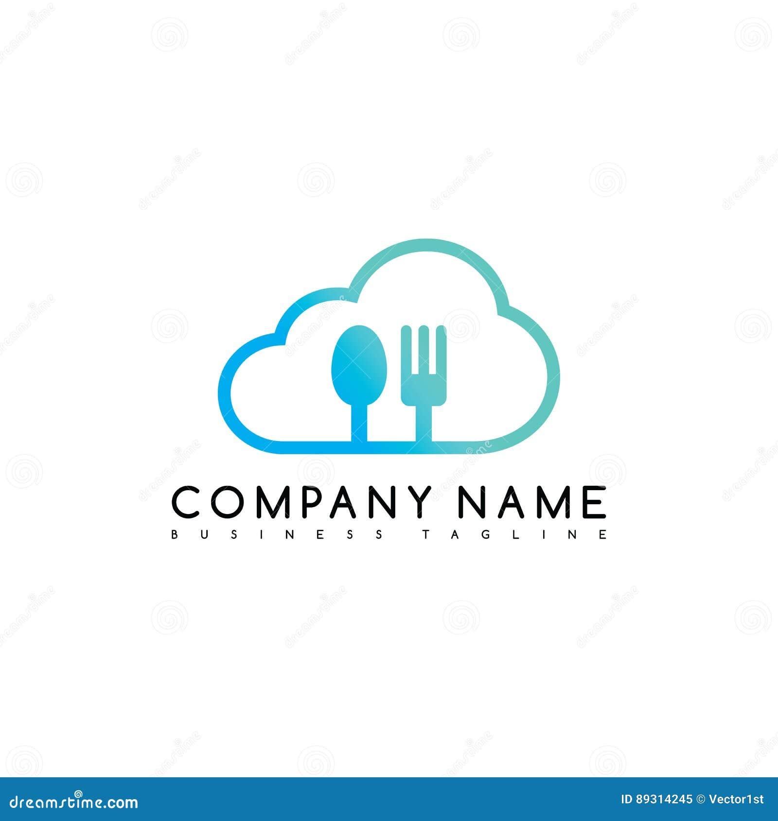 b59a7829c9d Art exclusif de logotype de logo de calibre de société de marque de nuage  de restaurant