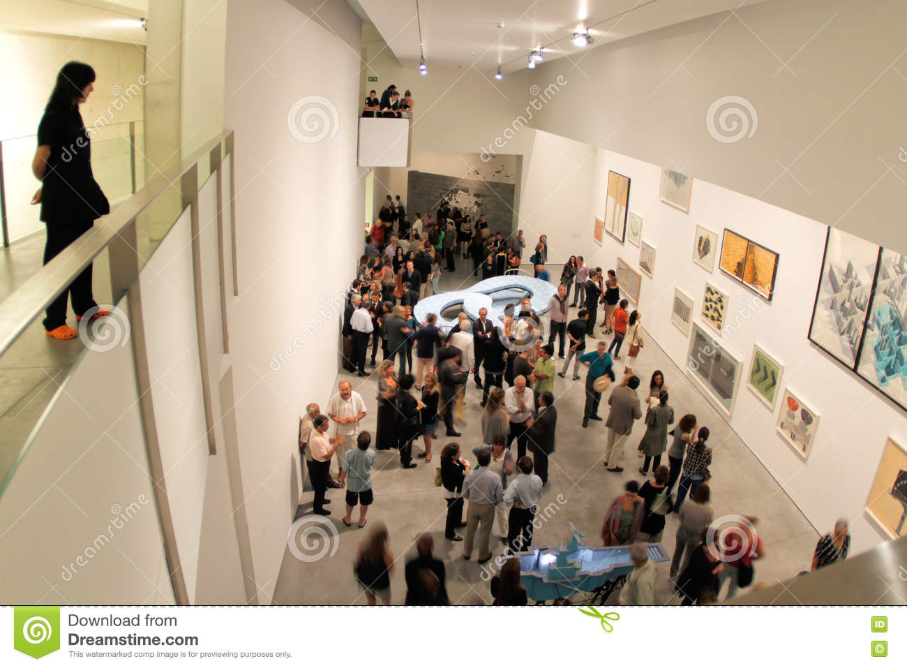 Exhibition Booth In Spanish : Art exhibit at modern museum editorial photo image