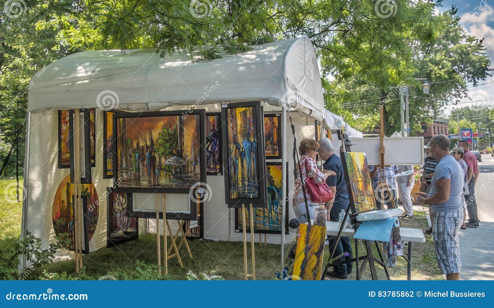 Art fair stands