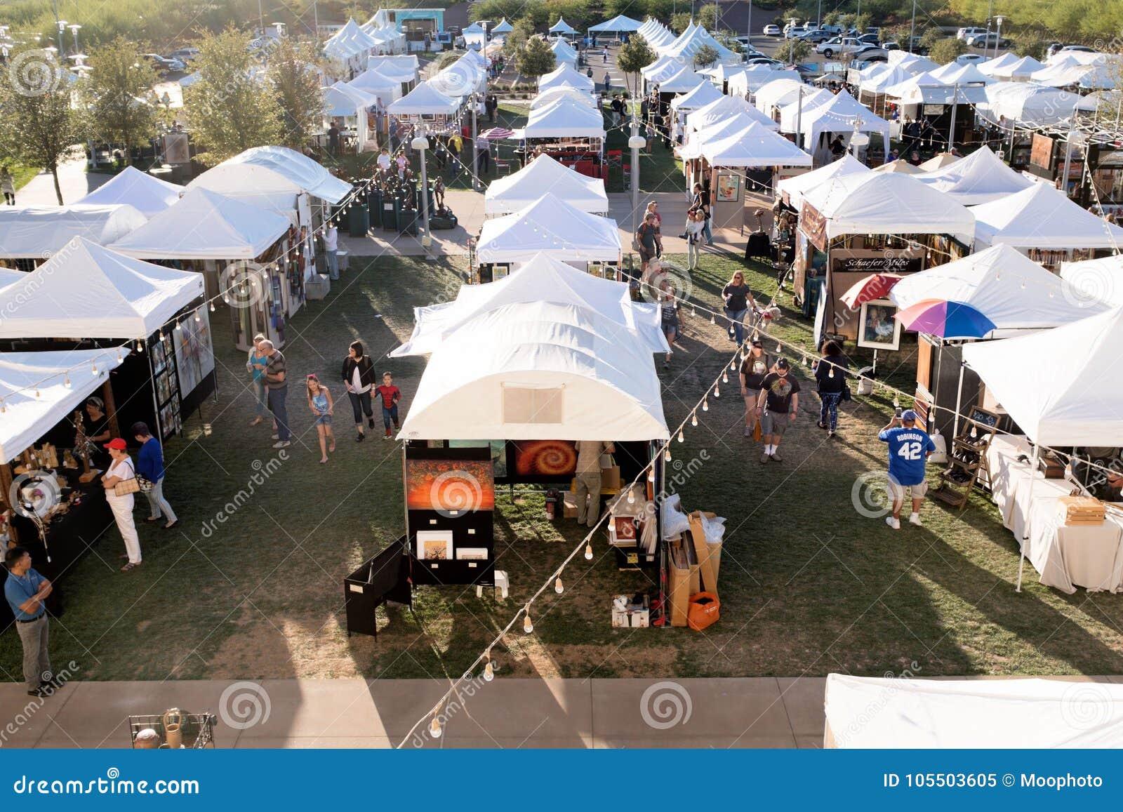 Art Festival In Downtown Summerlin, Las Vegas, NV Editorial Image