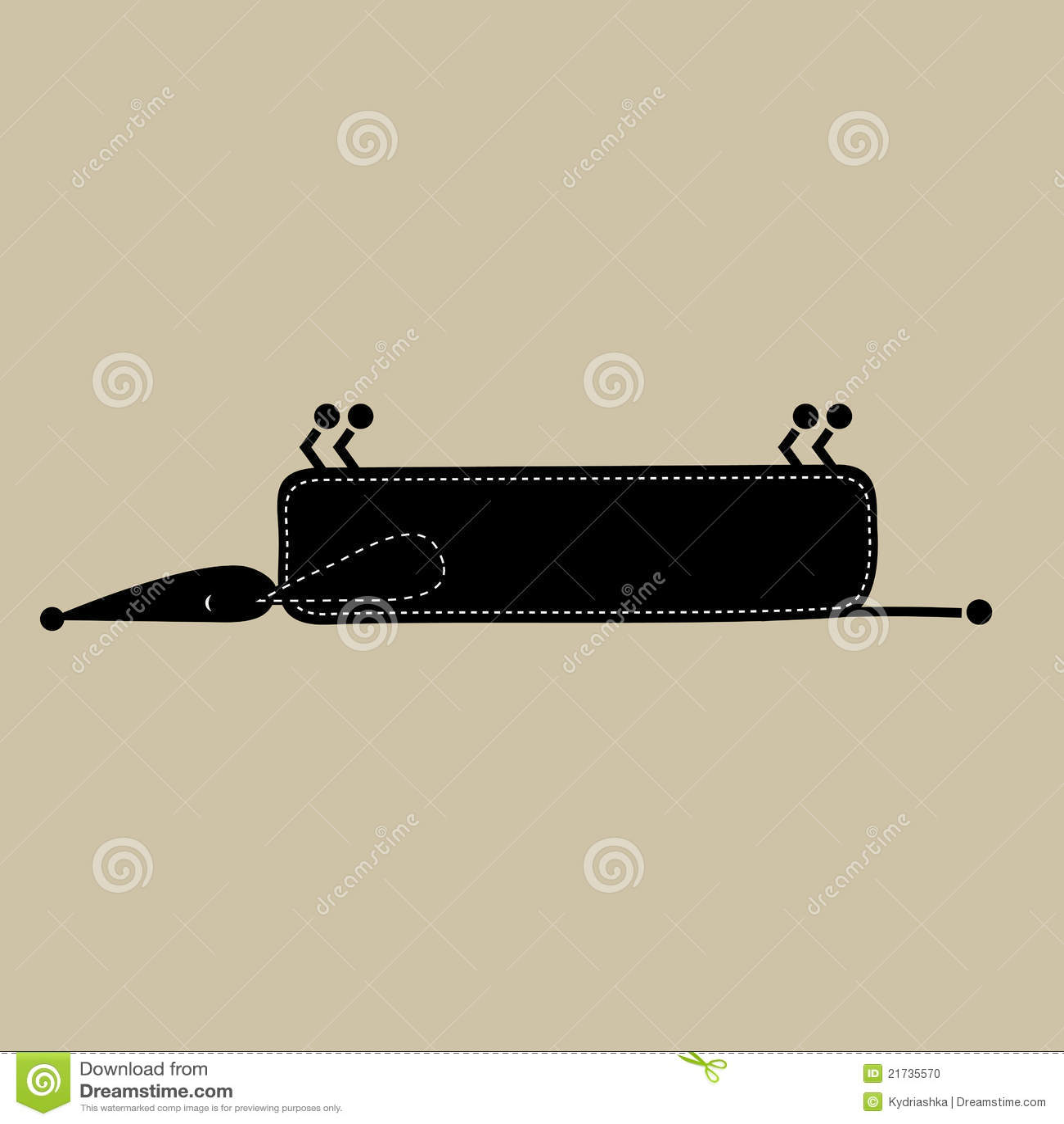 funny black dog silhouette for your design vector Outline Sofa Oslo Sofa