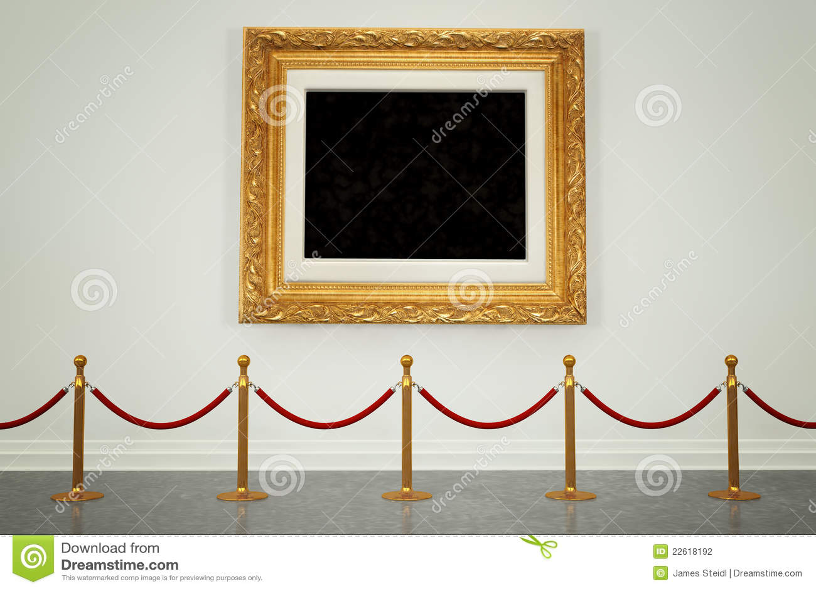 blank museum wall blank art