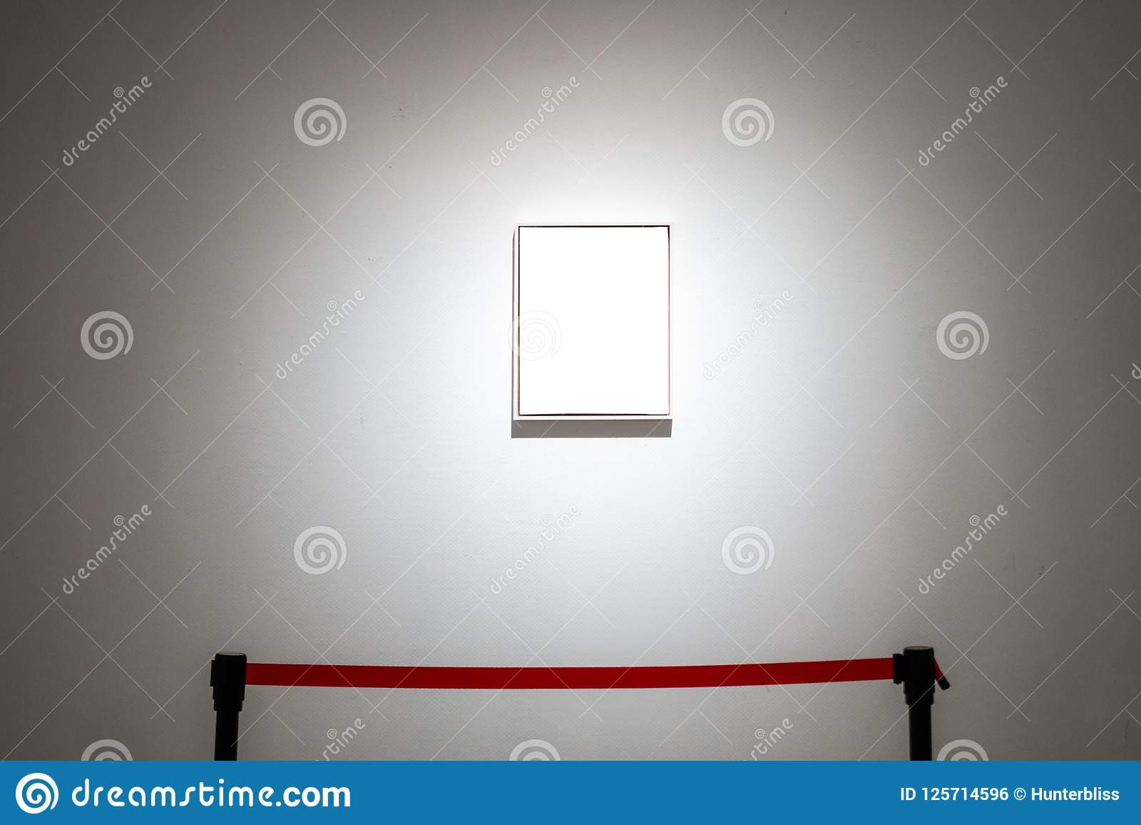 Art Gallery Museum Blank Frame Exhibition White Clipping Path Is