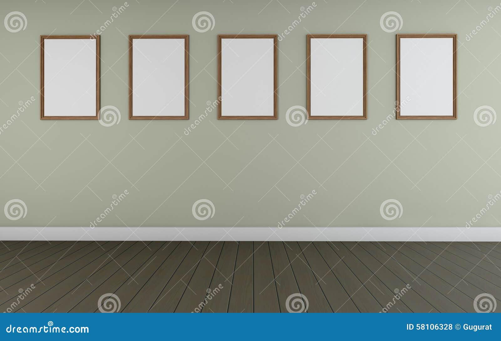 Art Gallery-Perspektive Zwei Zeigen Und Fünf Bilderrahmen Monocom ...