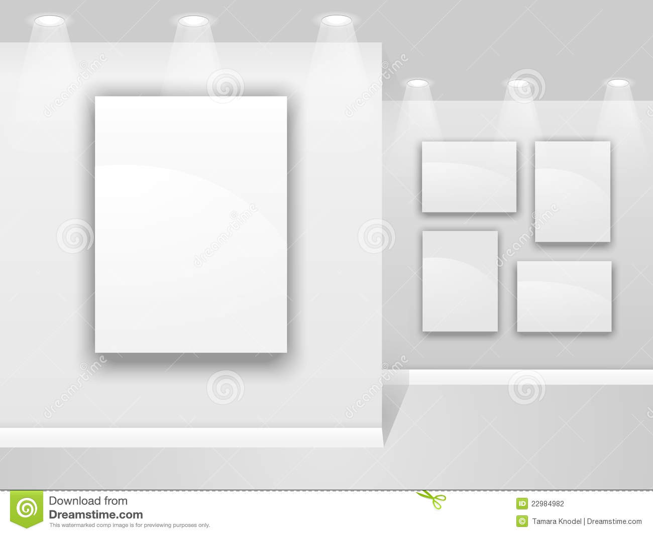 art gallery wall stock photography image 22984982