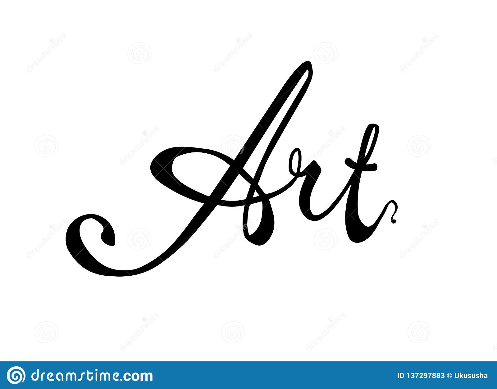 Art calligraphic vector word black on white