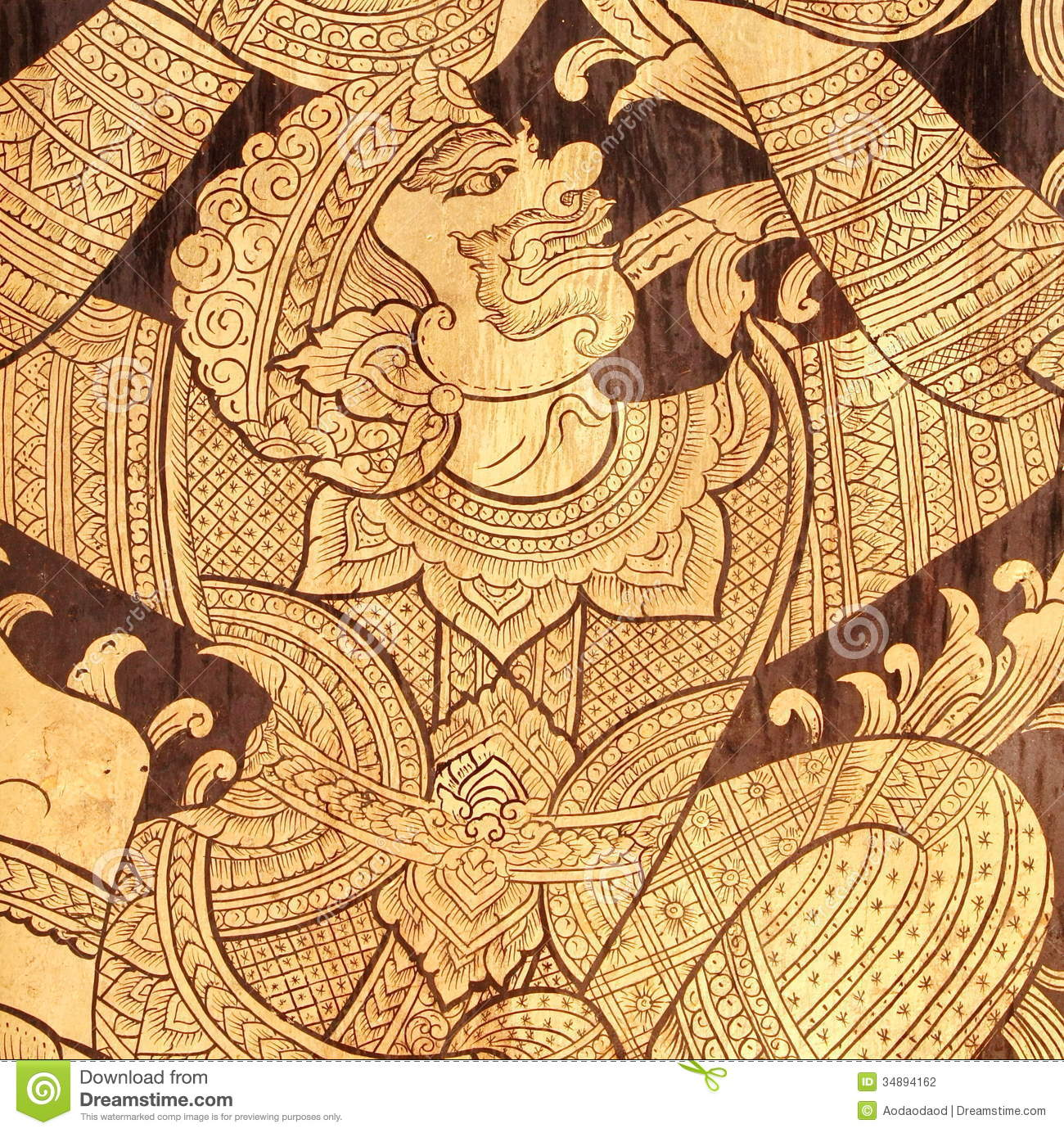 Art of hanuman-monkey wall stock photo. Image of craft - 34894162