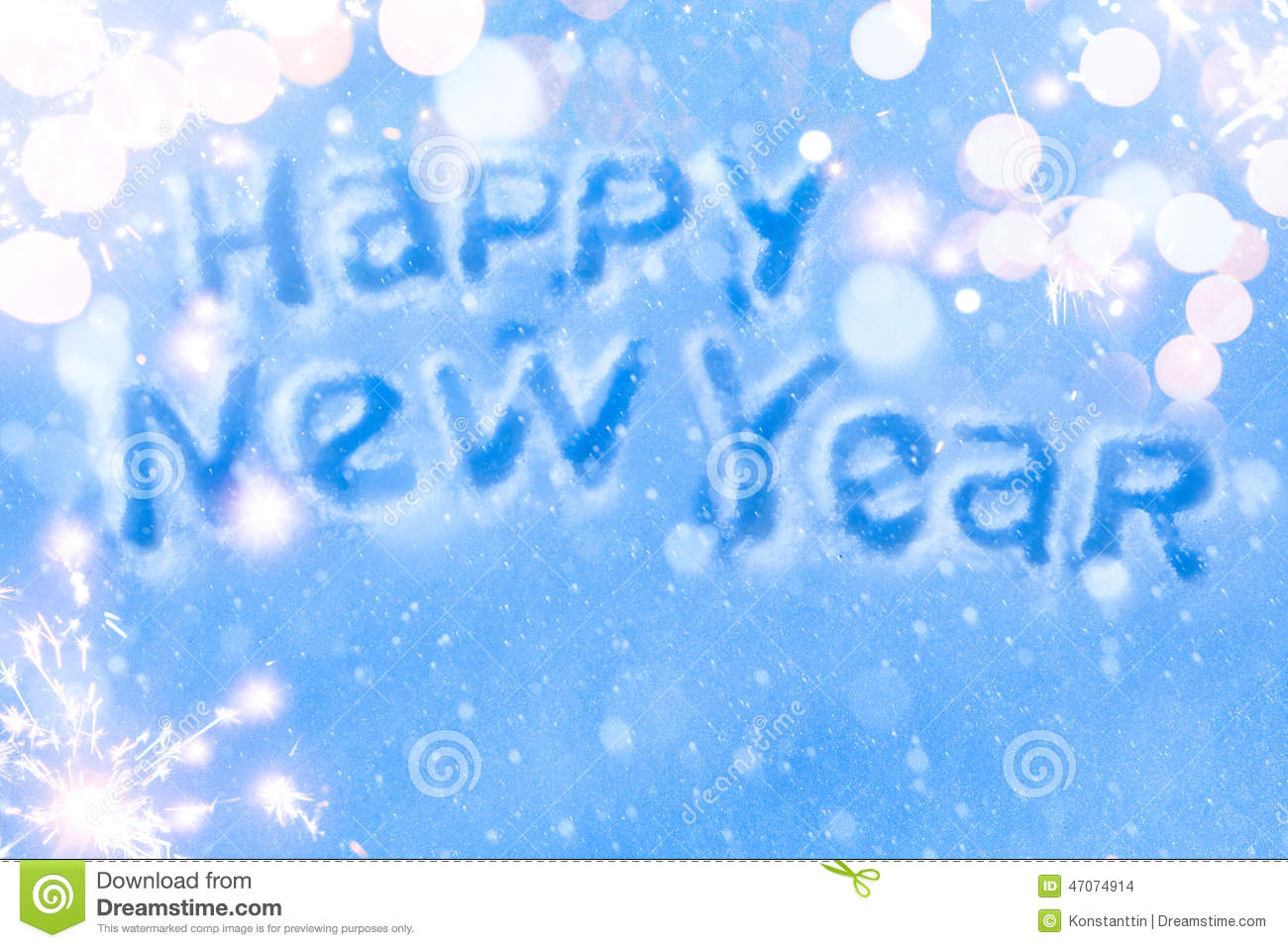 Art Happy New Year Greeting-Karte Stockfoto - Bild von vorabend ...