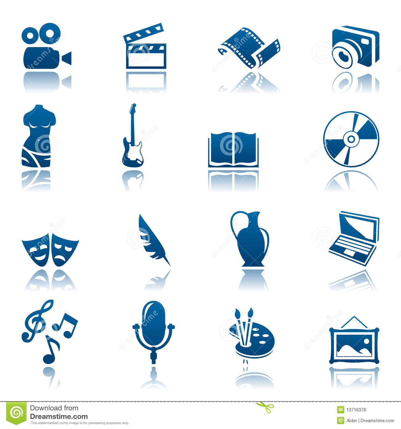 art  u0026 hobby icon set stock vector  image of feather