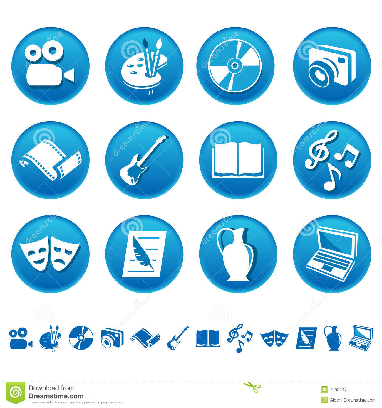 art  u0026 hobby icons stock vector  image of computer  button