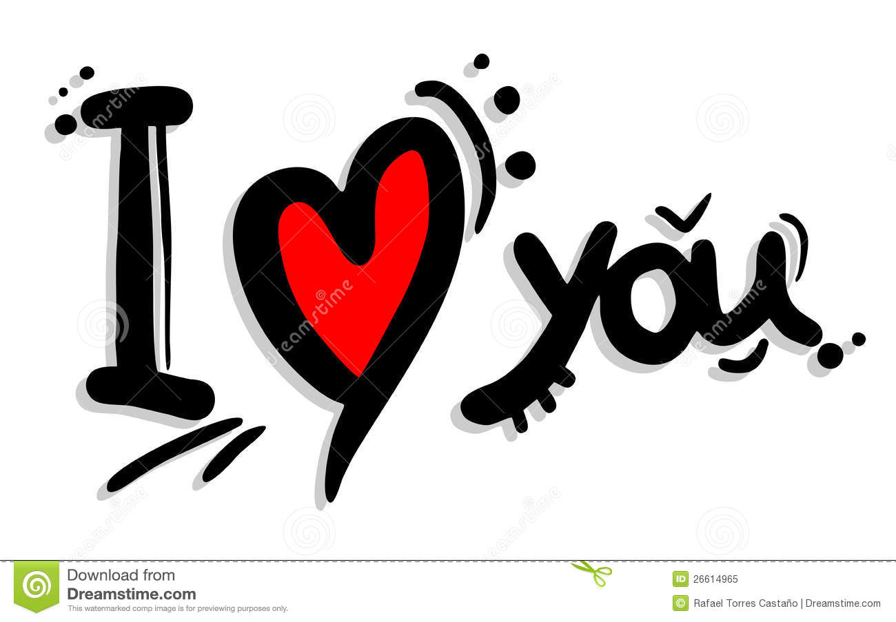 Art i love you stock vector image of heart artistic for Love in design