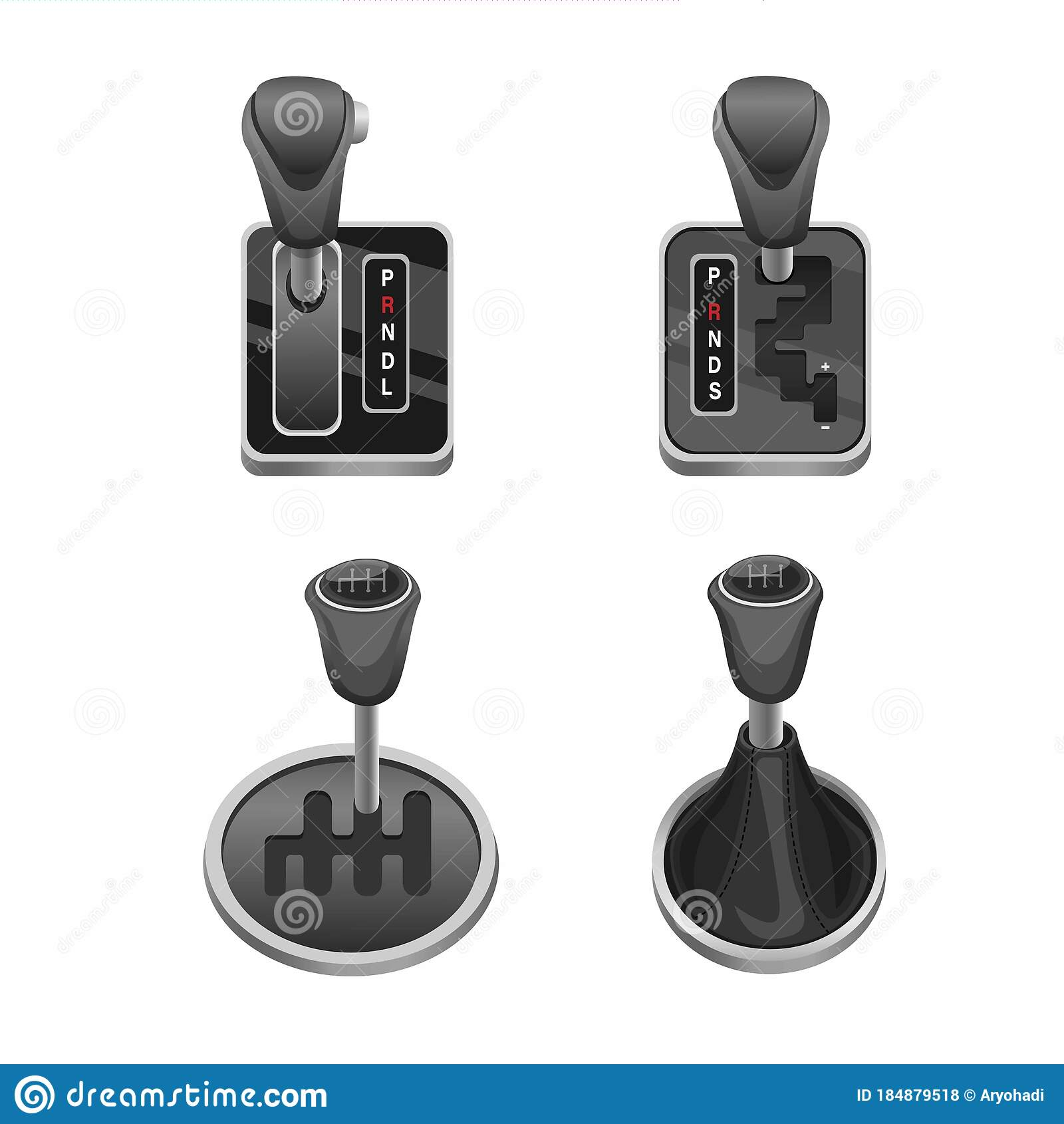 Car Transmission Lever In Automatic Semi Automatic And Manual Symbol Collection Icon Set Automotive Gear Lever Shift Concept Re Stock Vector Illustration Of Manual License 184879518