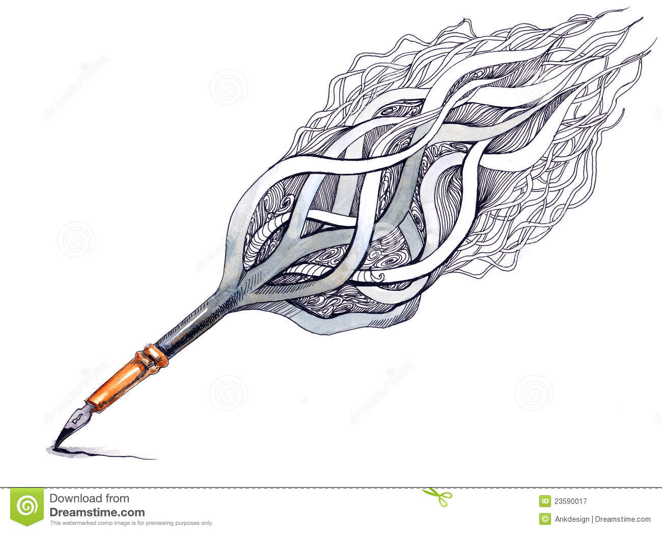 Art Ink Pen Royalty Free Stock Photography Image 23590017