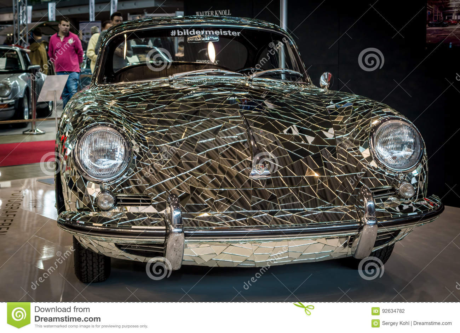 Art Installation Mirror Car Based On Porsche 356 By Artist Gustav Troger Mirrorman Editorial Photography Image Of Prestige Gustav 92634782
