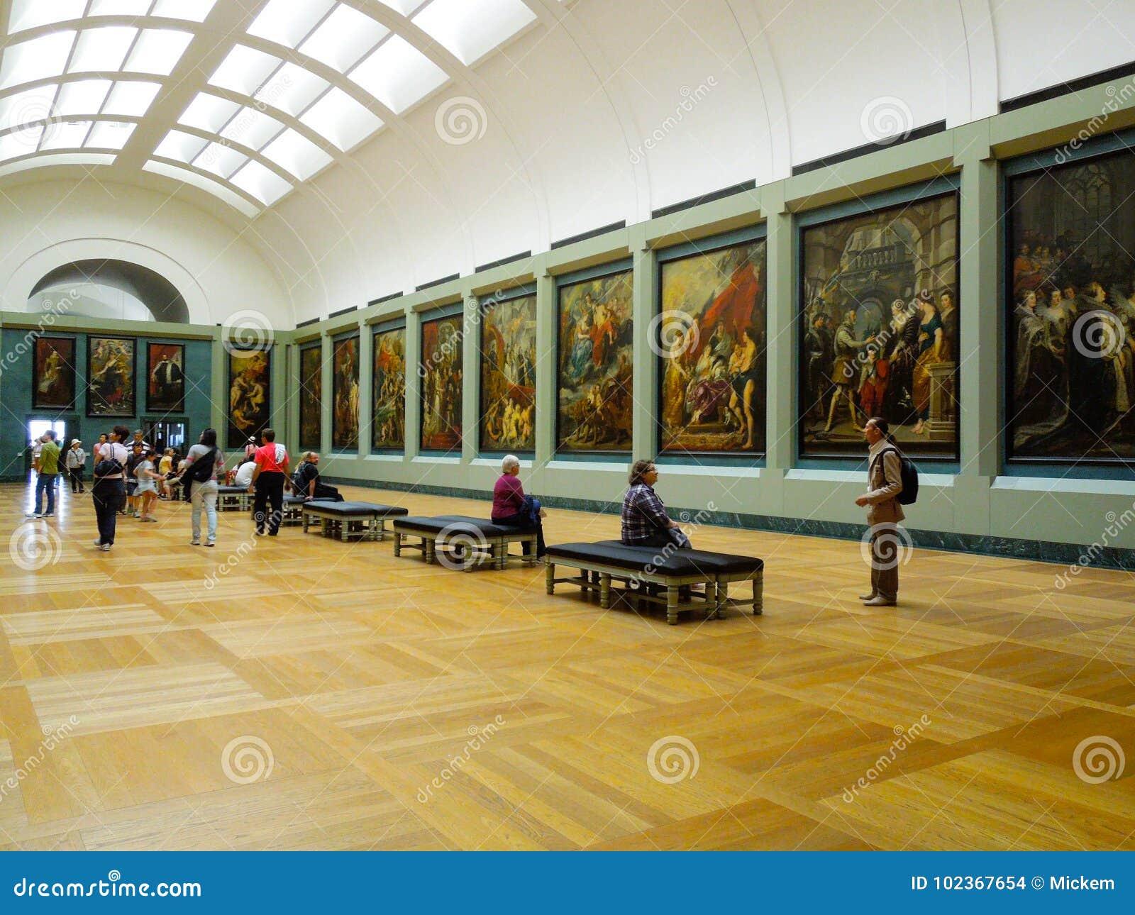 Art Interior Louvre Museum