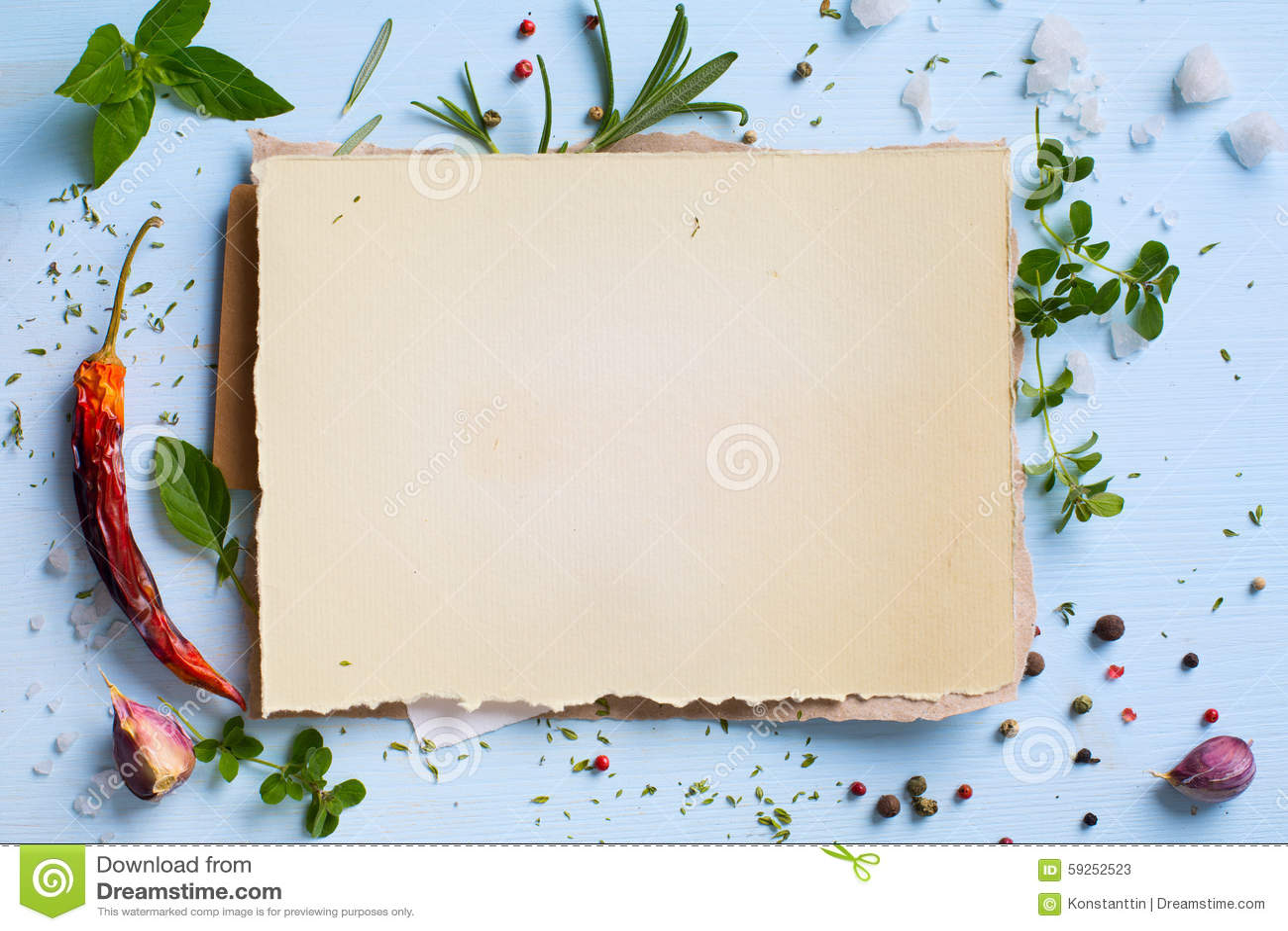Art Italian Homemade Menu Food Background Restaurant Week Stock Photo Image 59252523