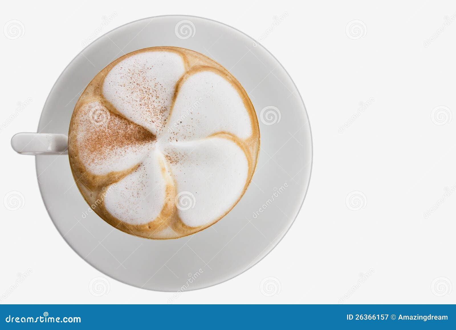 Art Latte isolated on white