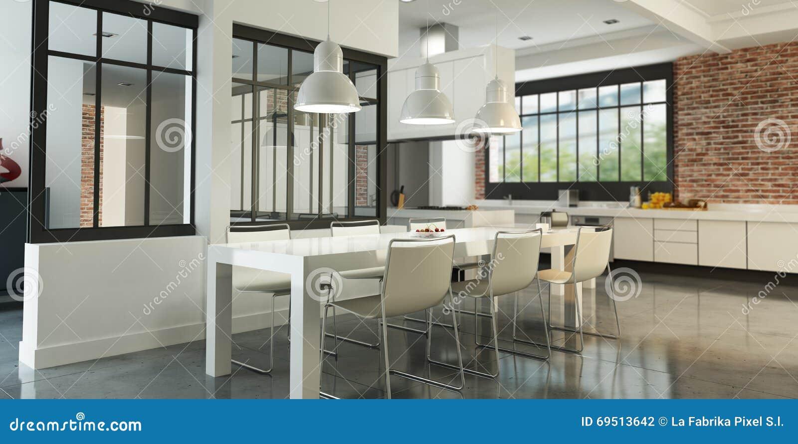 Loft Kitchen Art Loft Kitchen Stock Illustration Image 69513642