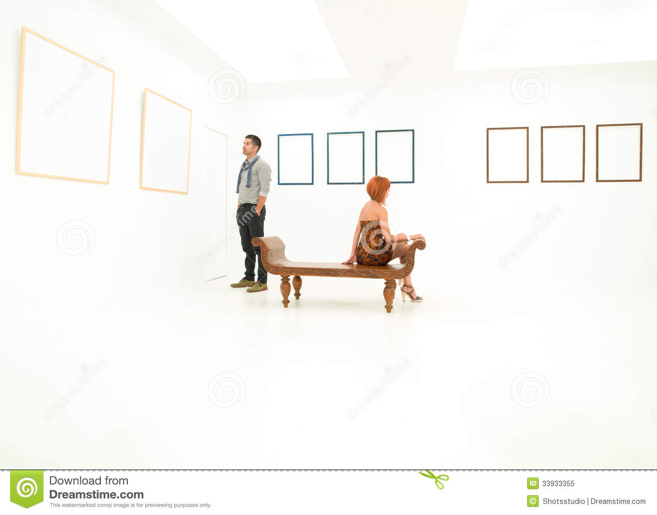 Art lovers stock image. Image of contemporary, space - 33933355
