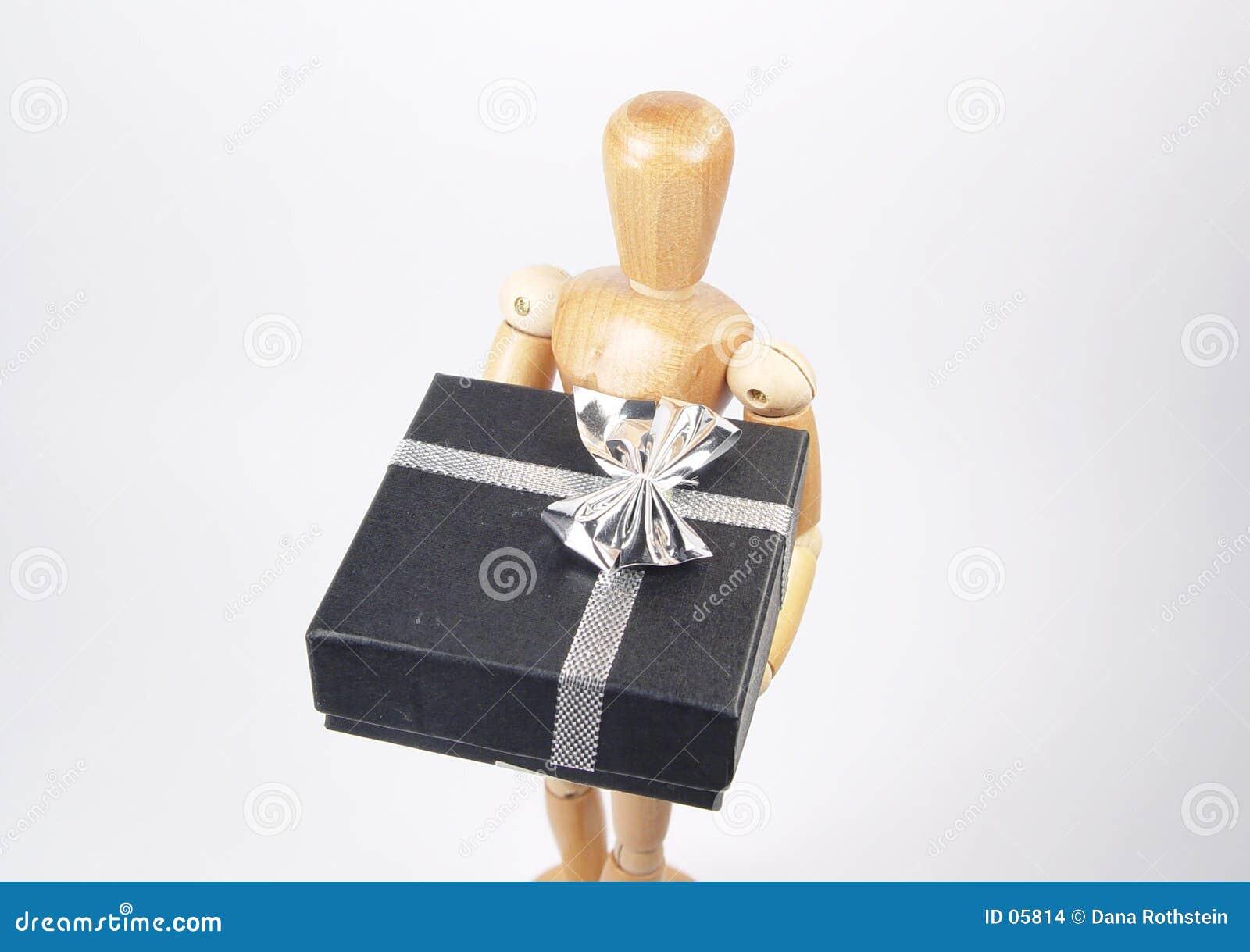 Art Mannequin Holding Gift