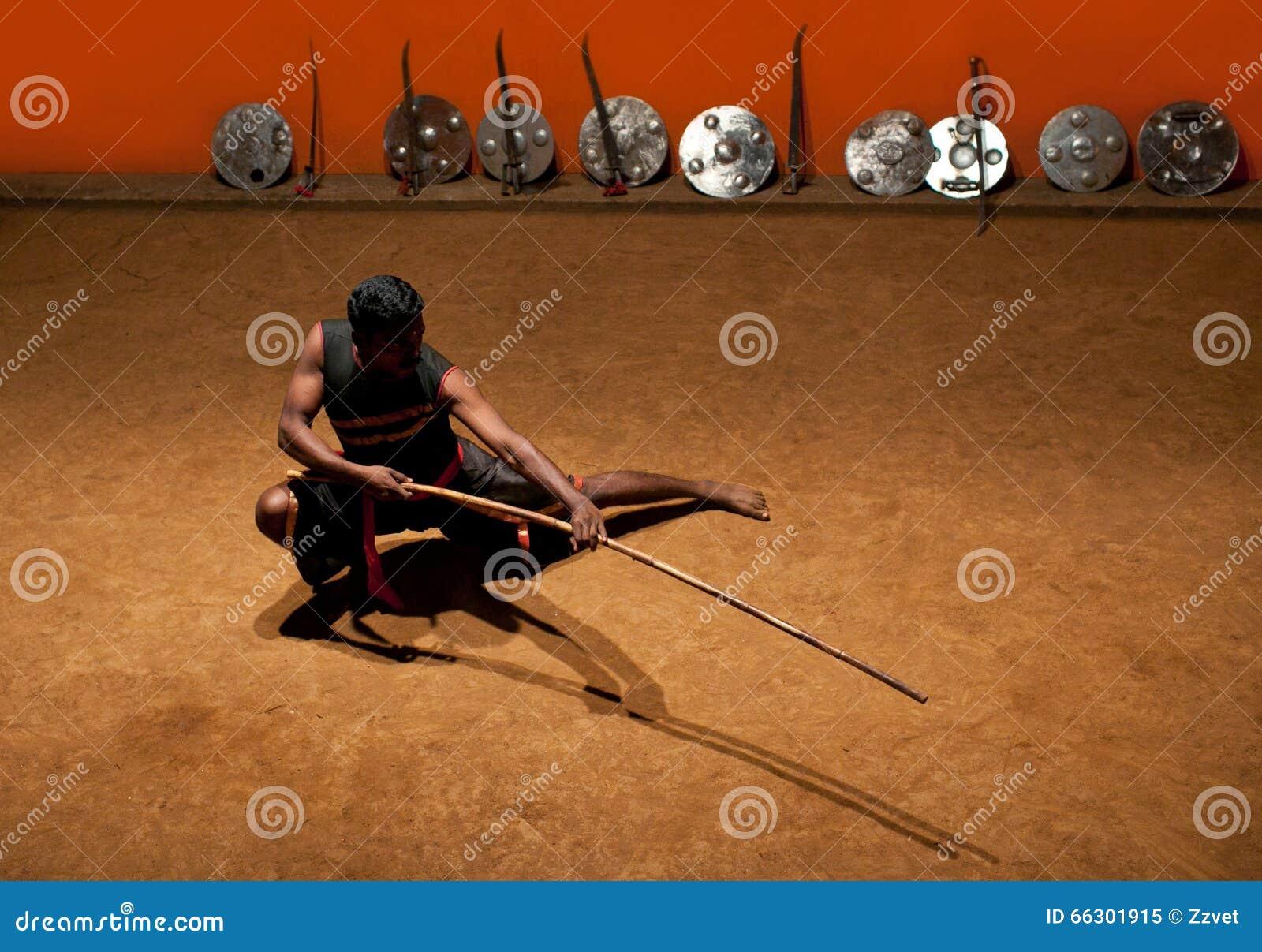 Art martial de Kalaripayattu au Kerala, Inde du sud