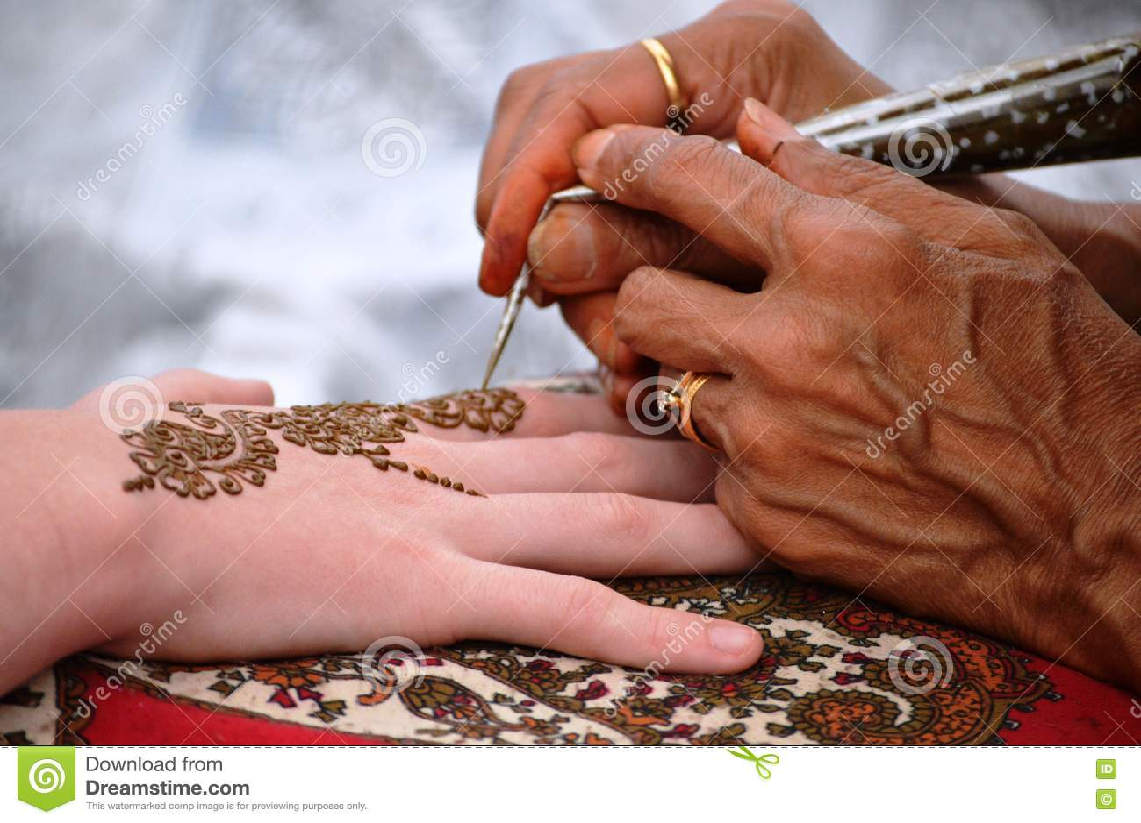 The Art Of Mehndi Stock Photo Image Of Black Ritual 78192928