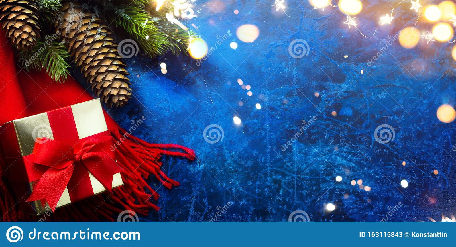 Art Merry And Bright Christmas And Happy New Year Greeting ...
