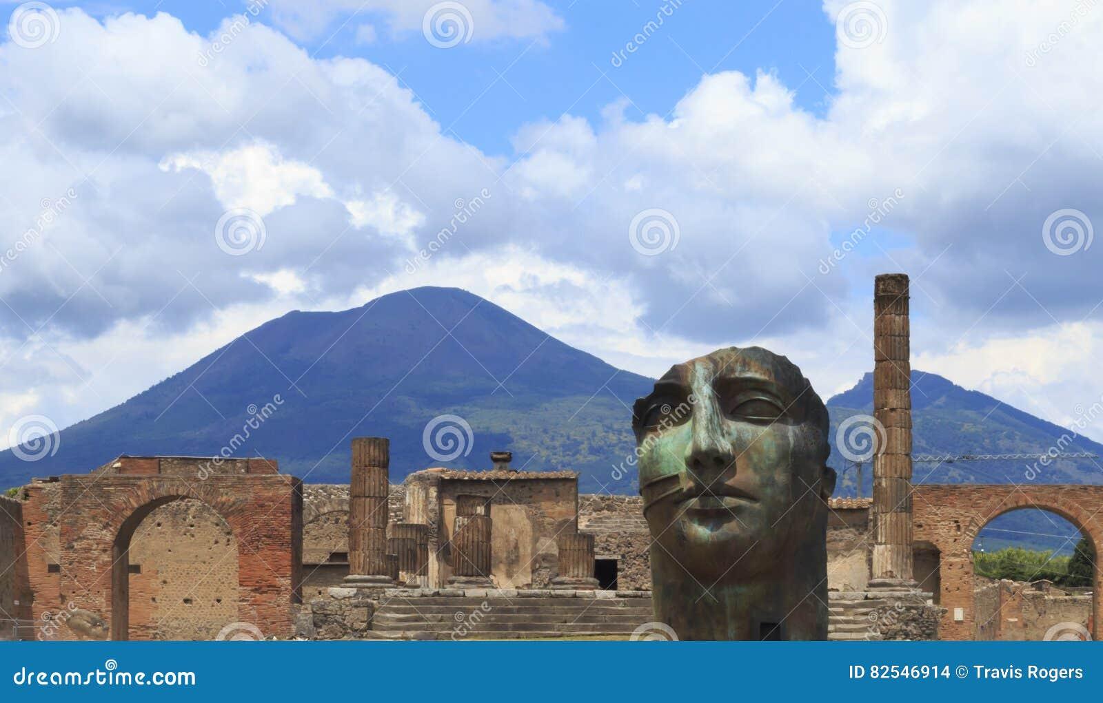 Art moderne de Pompeii avec le mont Vésuve