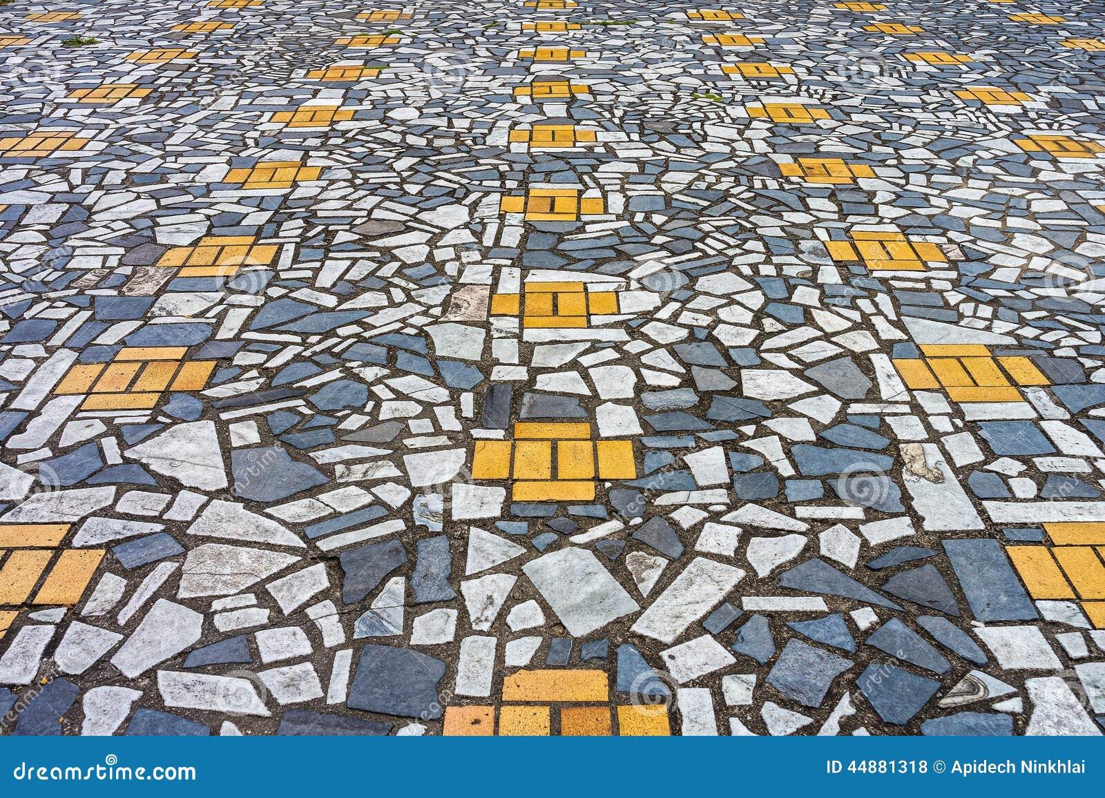 The Art Of Mosaic Pavement Stock Photo Image 44881318