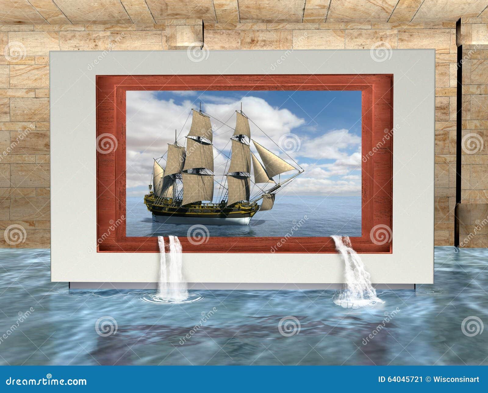 Art Museum Gallery surreale, nave, navigazione alta