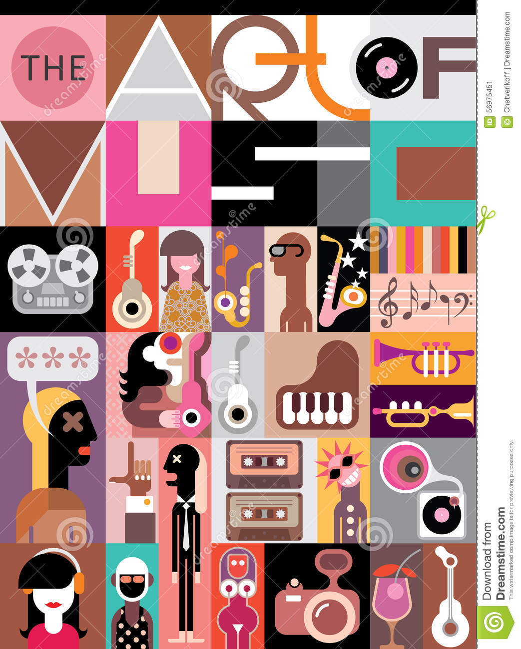 Concert Poster Design Musical Music Posters Collage