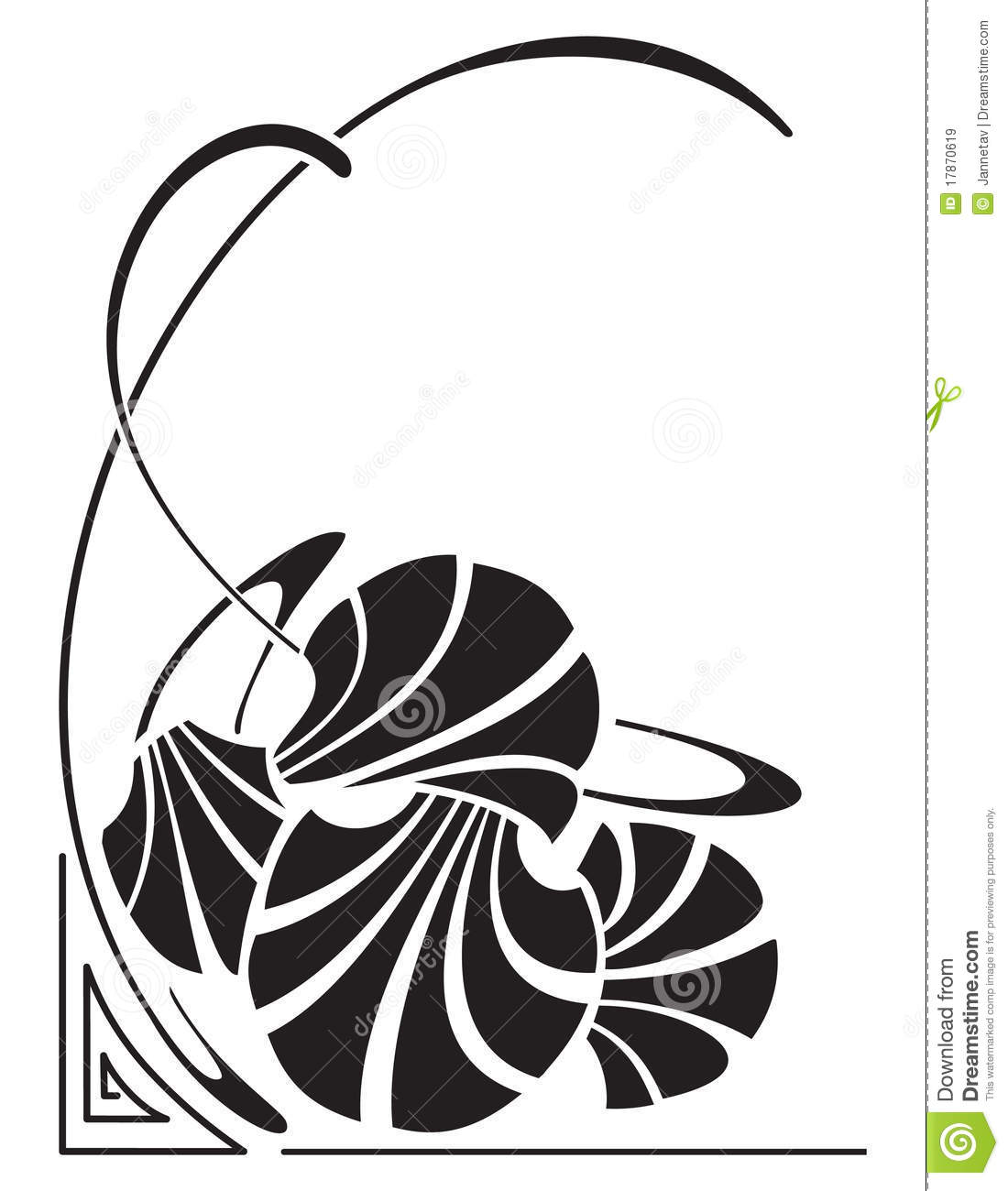 art nouveau stock vector illustration of frame abstract