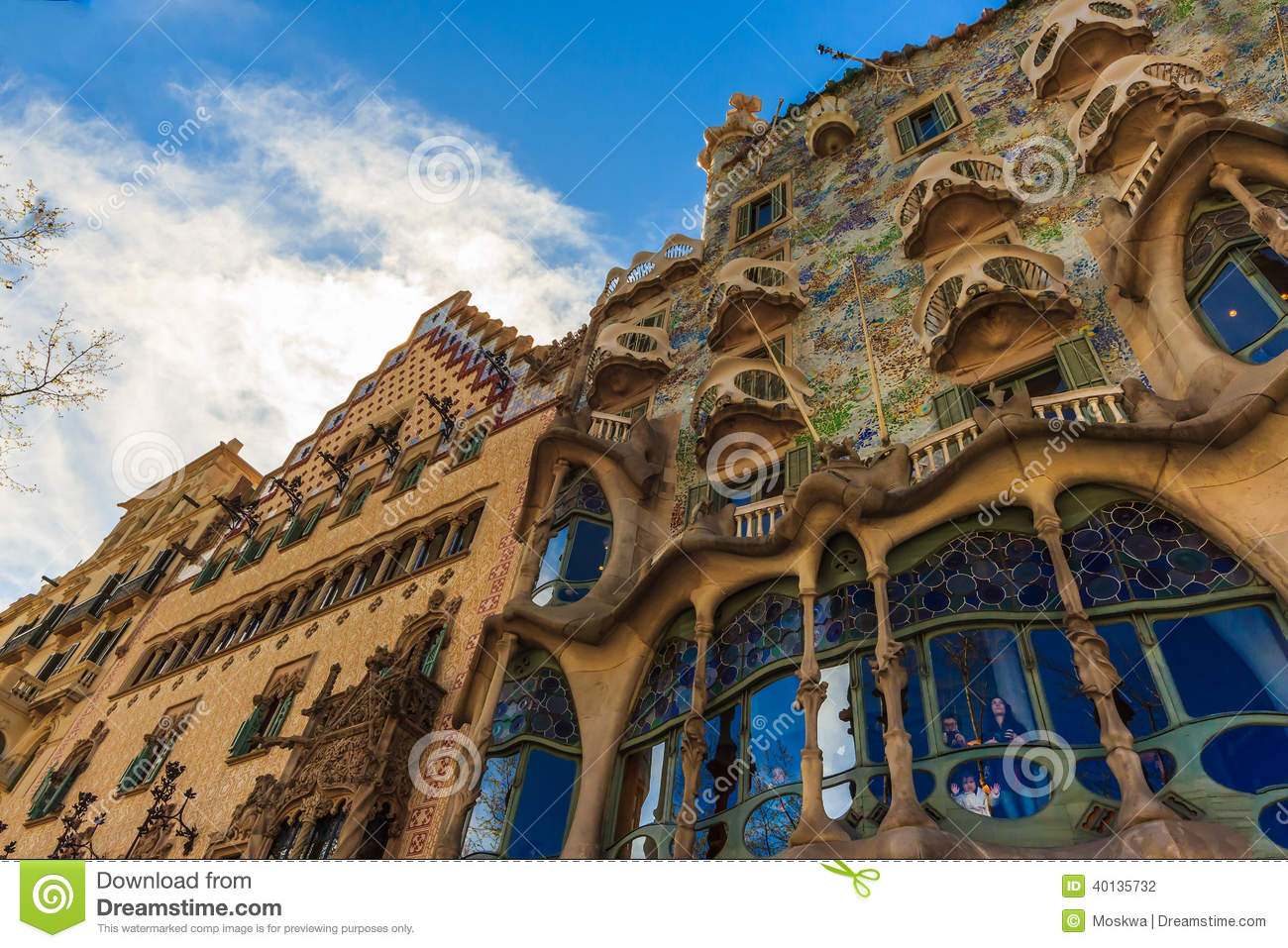 Download Art Nouveau By Architect Gaudi In Barcelona Spain Editorial Photography