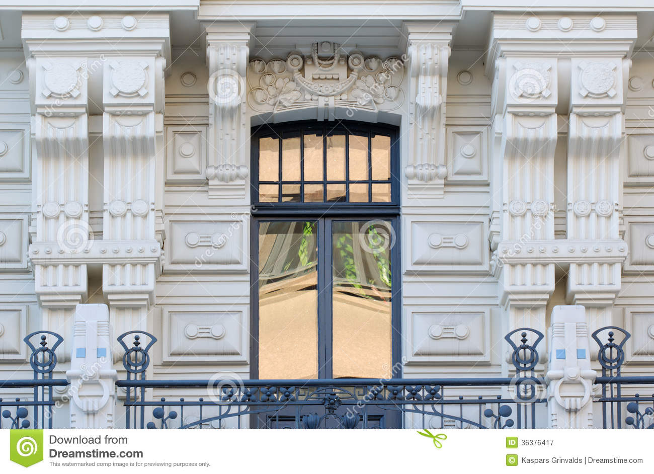Art Nouveau Architecture In Riga Latvia Royalty Free