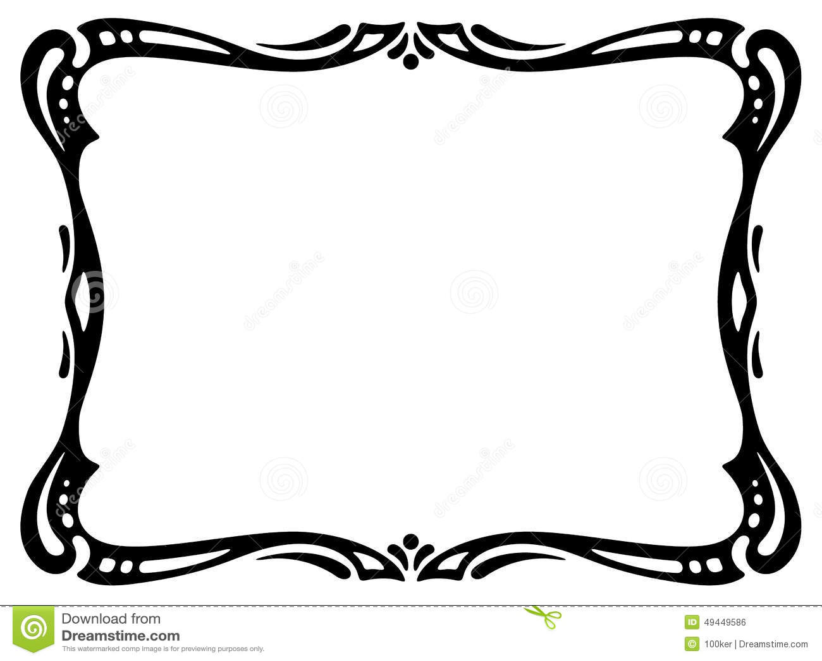 art nouveau black ornamental decorative frame stock vector rh dreamstime com ornamental vector art ornamental victorian shoes
