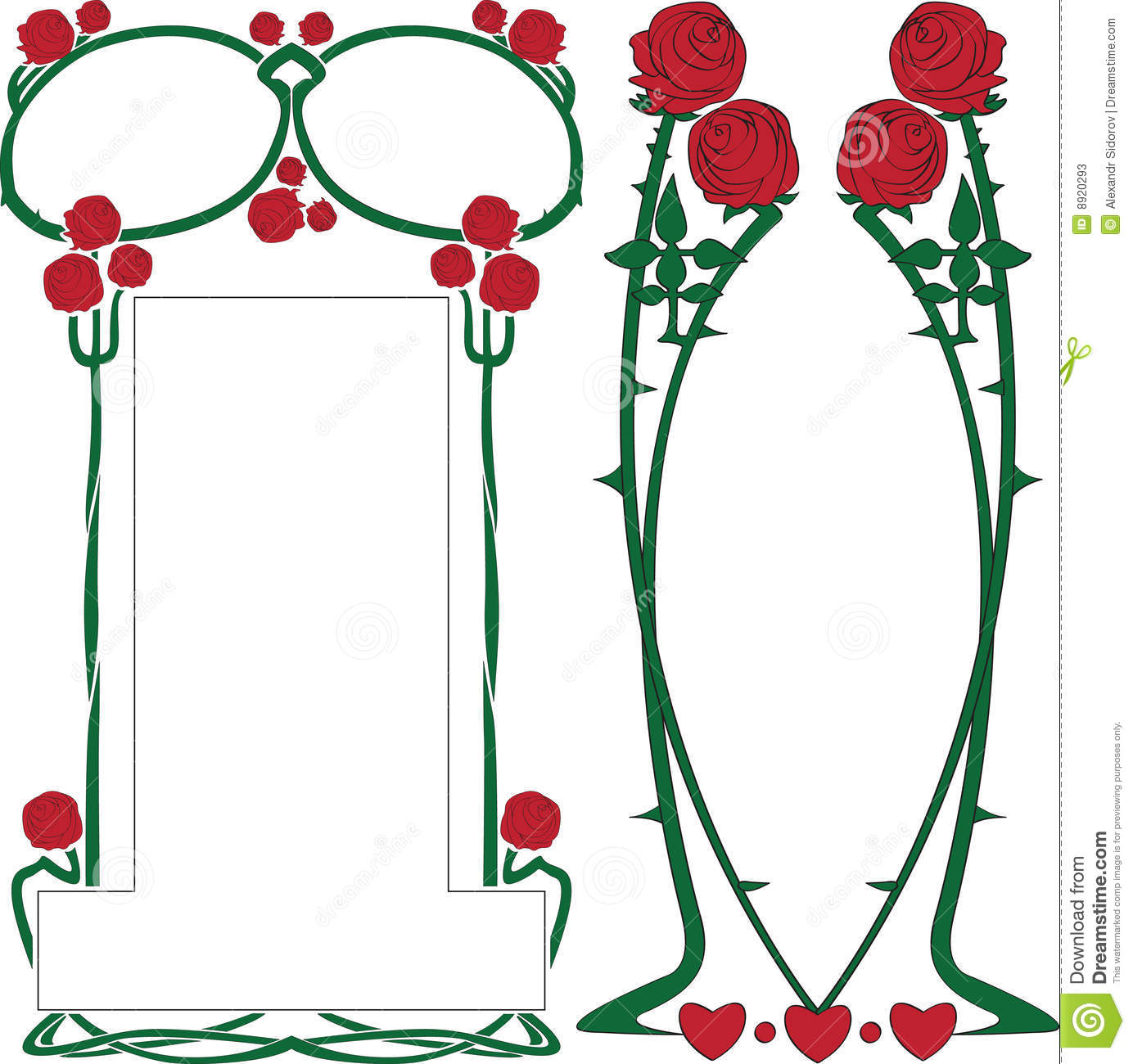 artnouveau border stock photos image 8920293