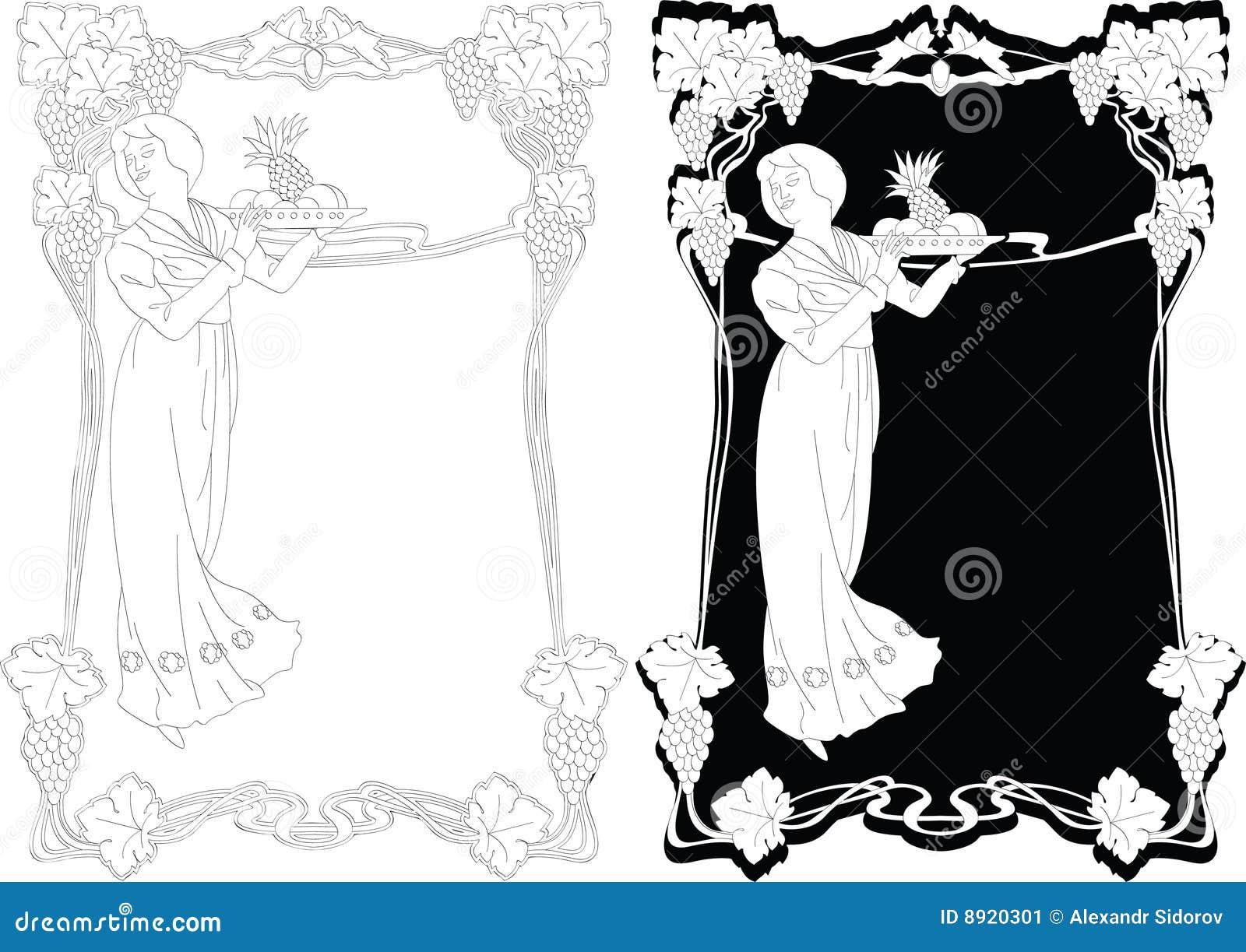 Art-nouveau Border Stock Image - Image: 8920301