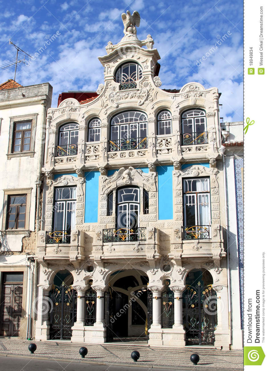 Art nouveau building in aveiro portugal stock photo - Art nouveau architecture de barcelone revisitee ...