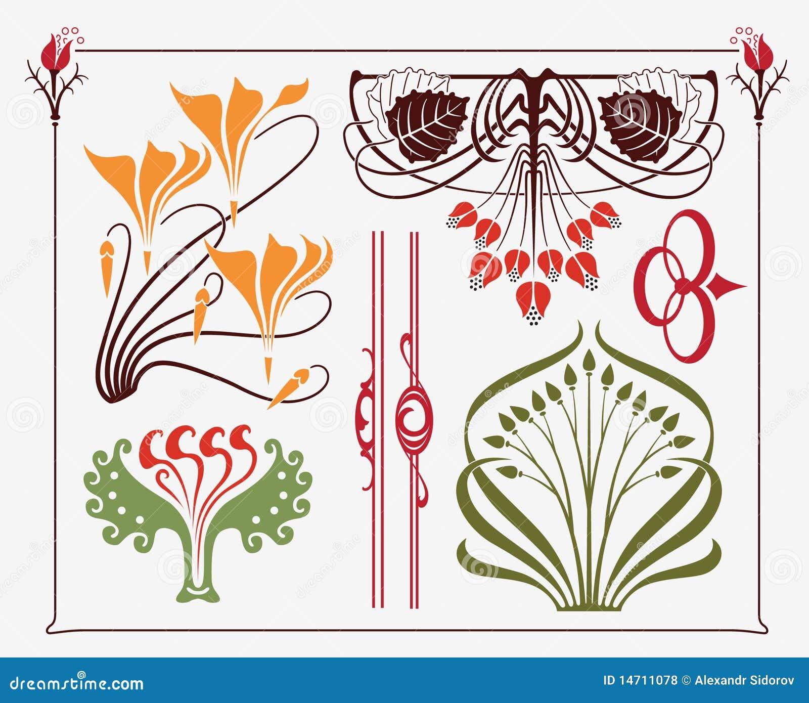 Art Design : Art nouveau design royalty free stock photos image