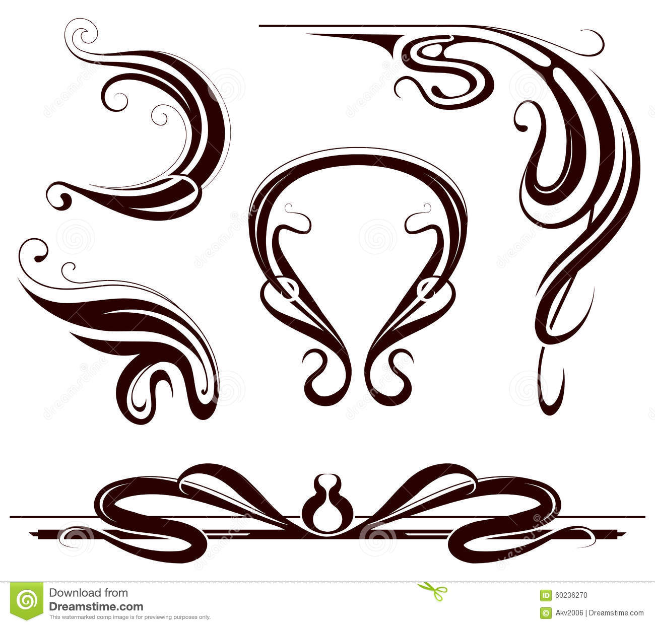 Art Deco Design Elements art nouveau design elements stock photos - image: 9373873