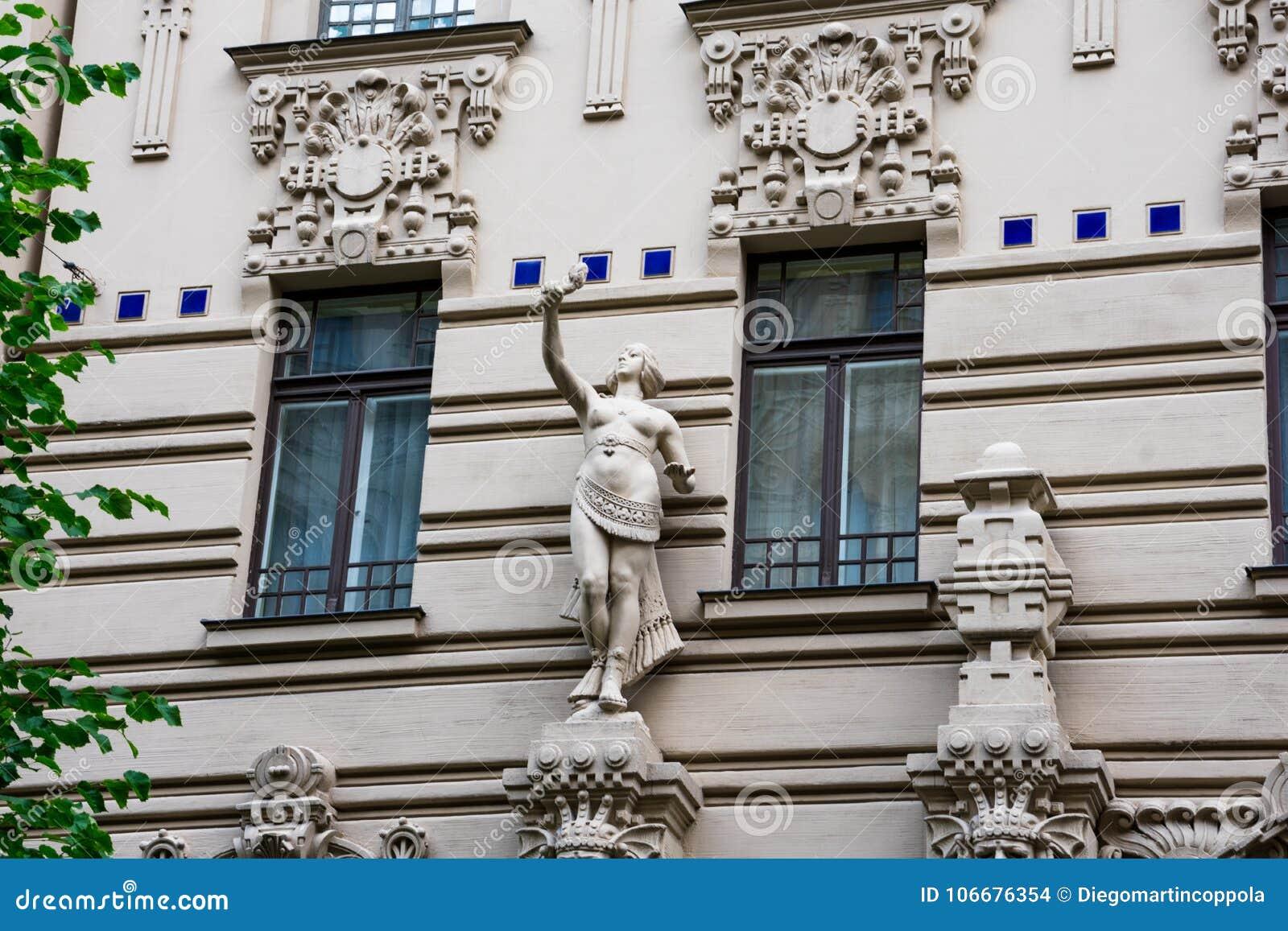 Art Nouveau District Jugendstil in Riga