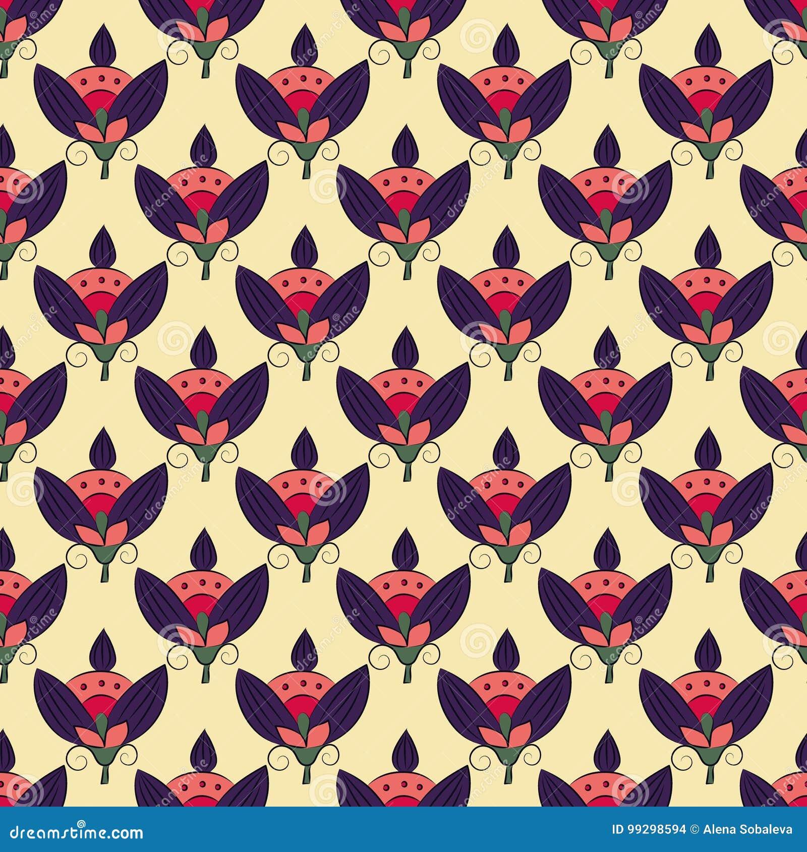 Art Nouveau Flowers Stock Vector Illustration Of