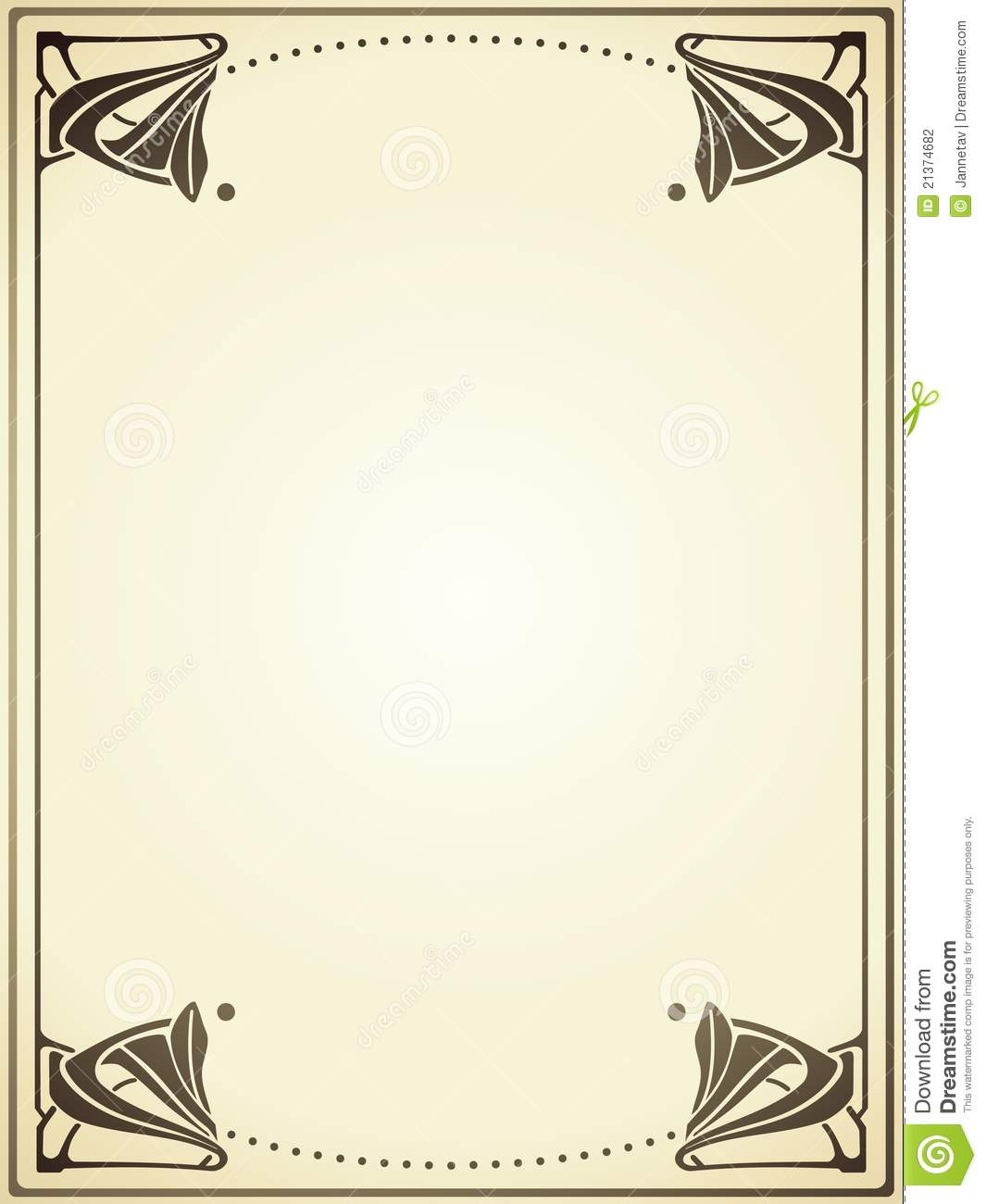 Art Nouveau Frame Stock Vector Illustration Of Flower 21374682