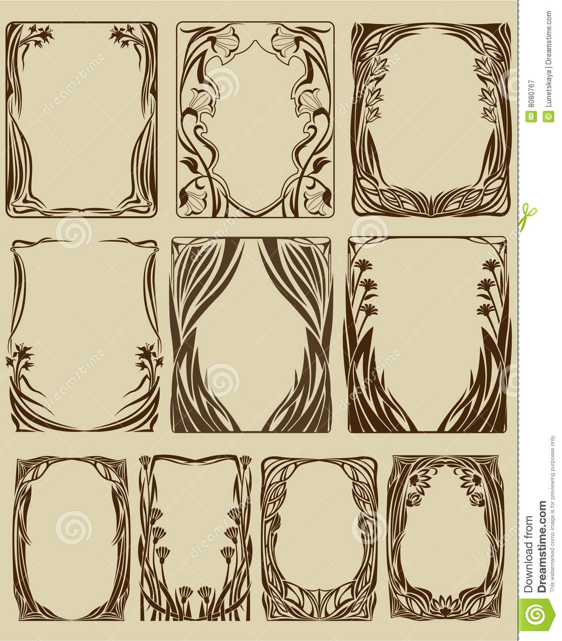 frames on pinterest art nouveau clip art and decorative. Black Bedroom Furniture Sets. Home Design Ideas