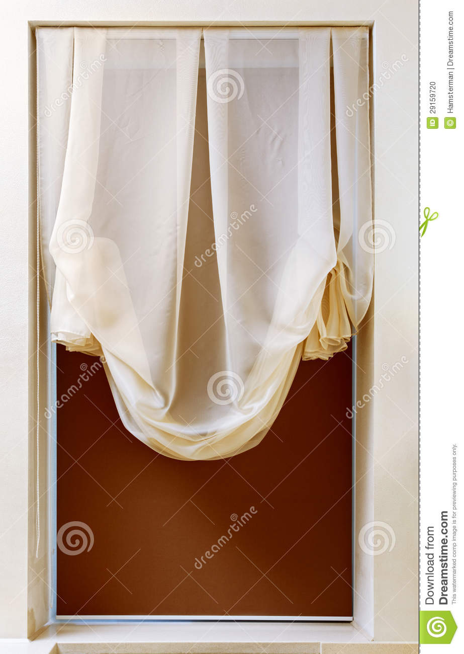 Art Nouveau Style Curtain In Window Frame Stock Photo Image 29159720