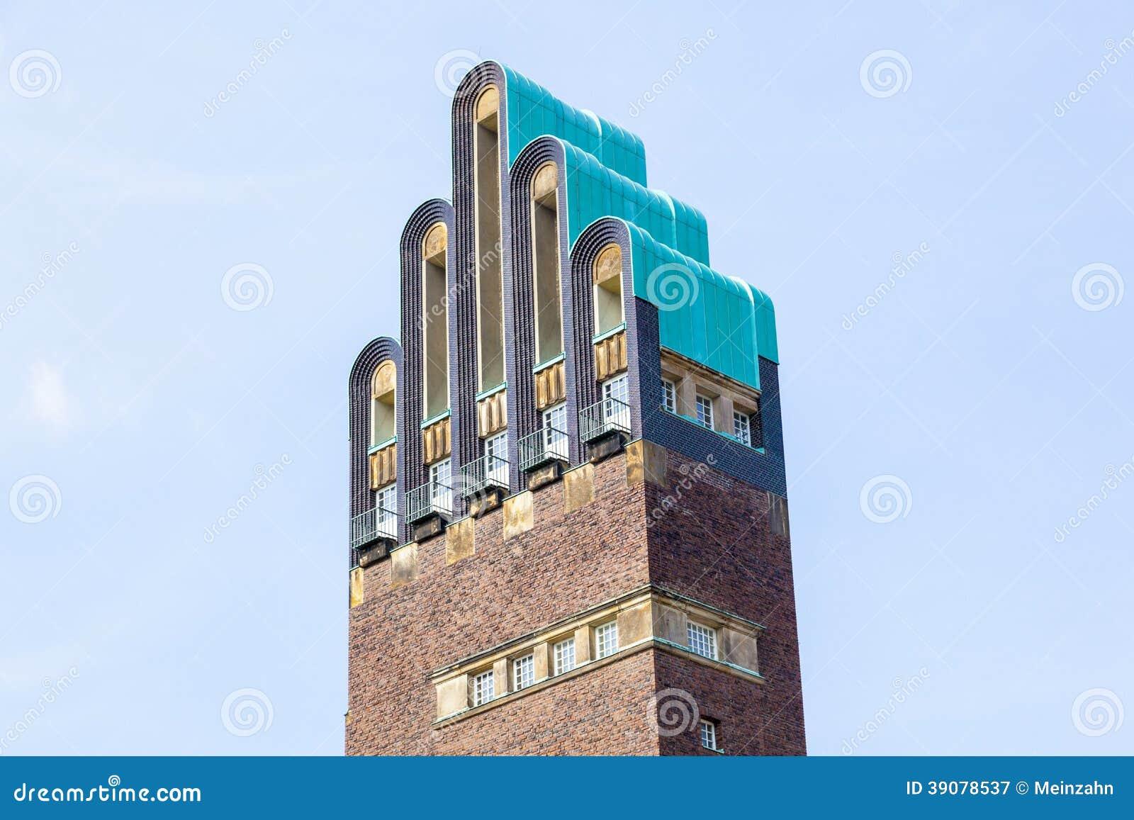 art nouveau style hochzeitsturm wedding tower in. Black Bedroom Furniture Sets. Home Design Ideas