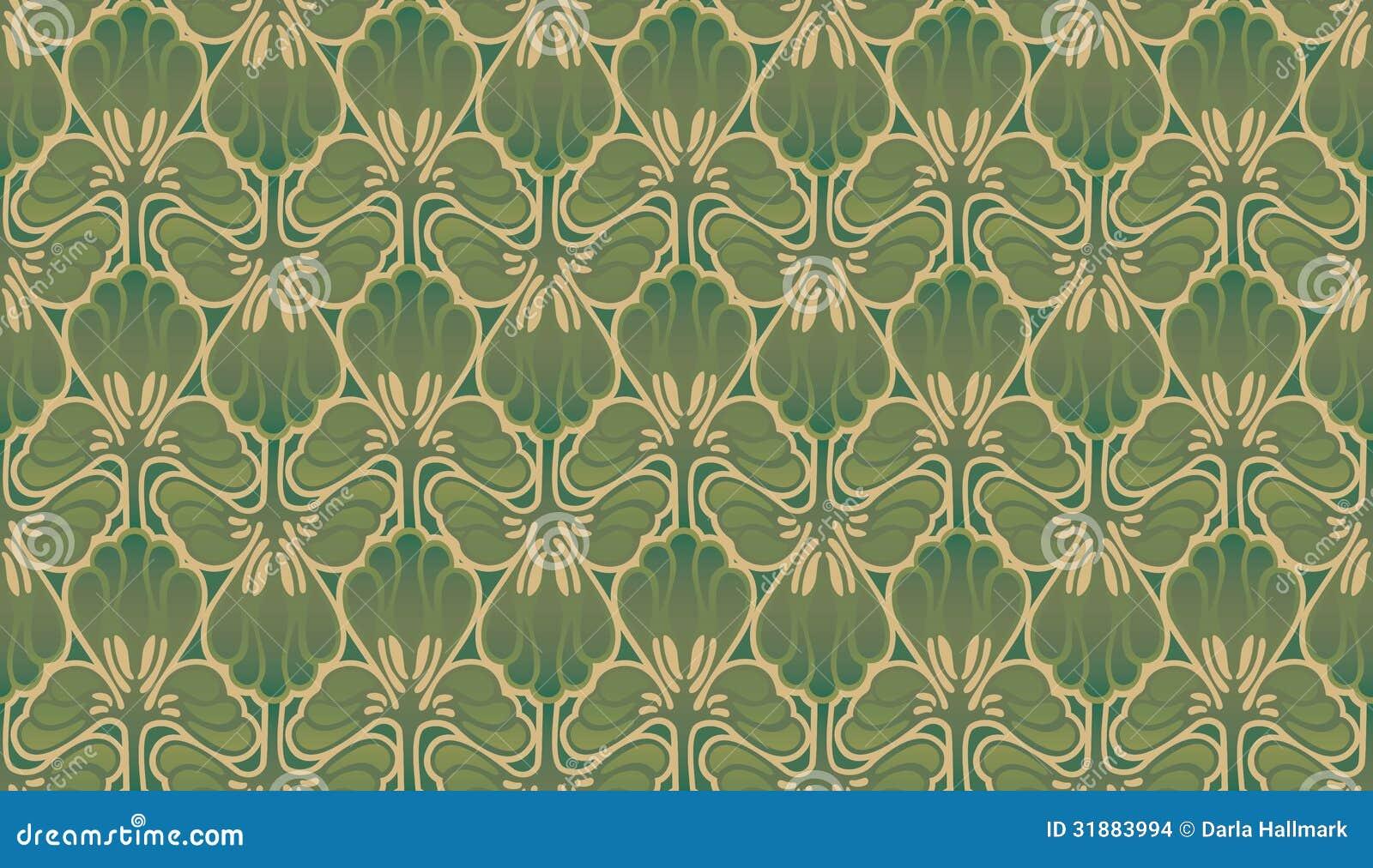Art nouveau wallpaper stock images image 31883994 - Papier peint art nouveau ...