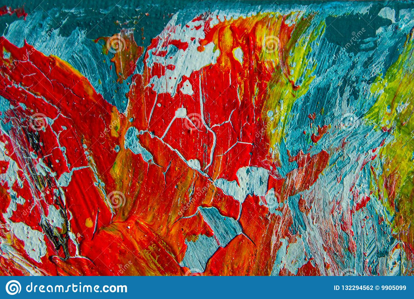 Art oil painting background abstraction fire