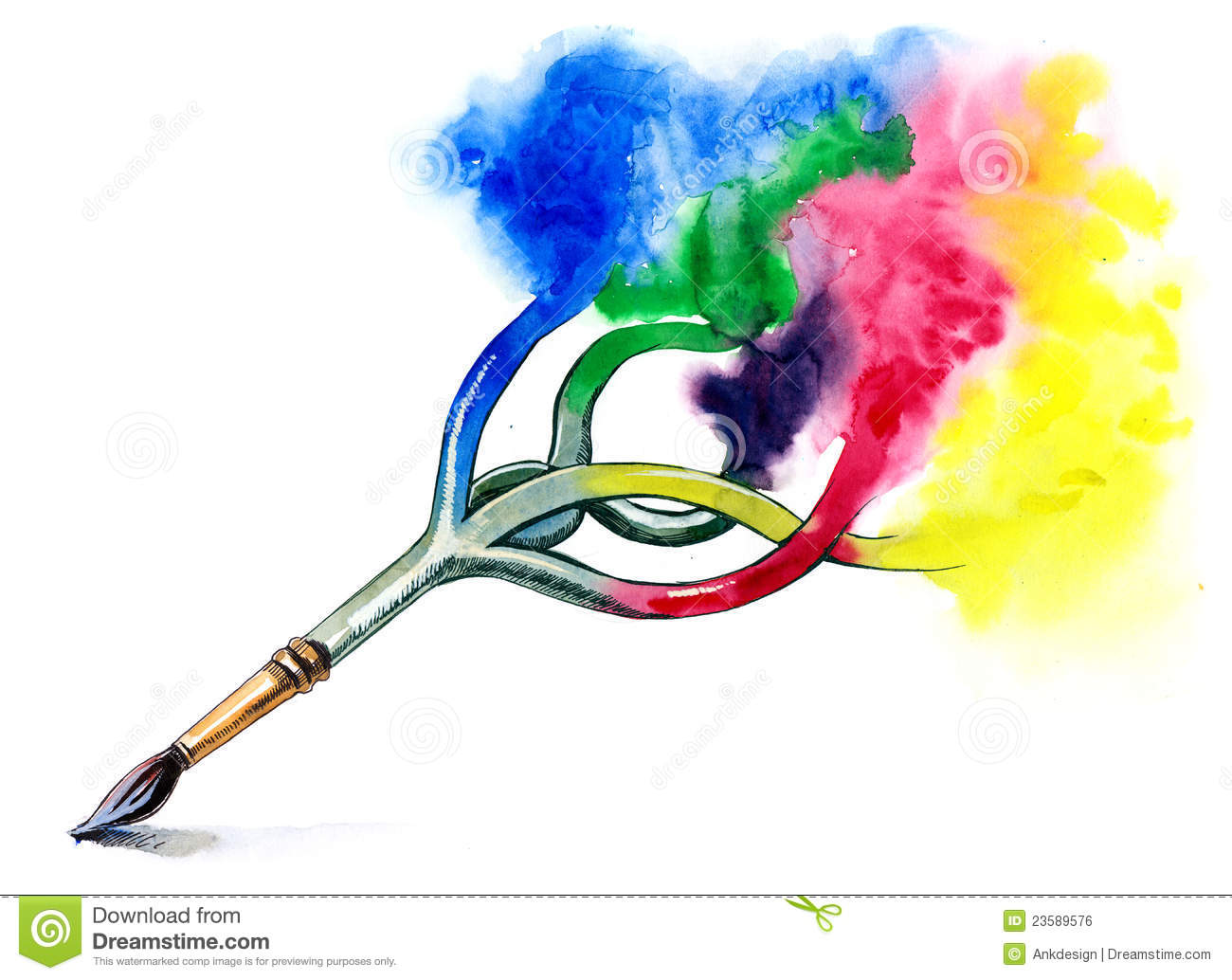 Art paint brush stock illustration illustration of craft for Arts and craft paint
