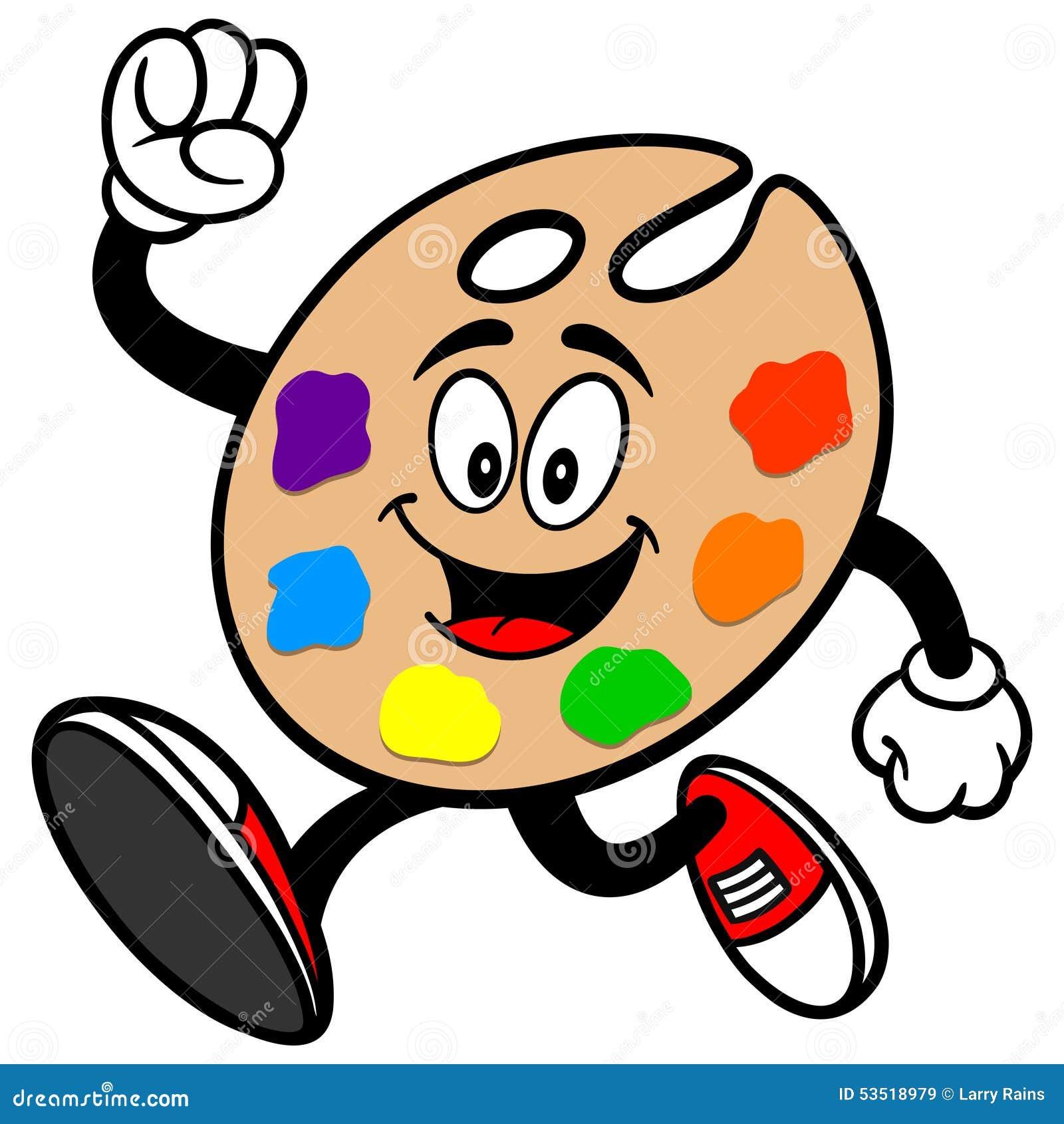 Cartoon Art Pallet Art Palette Running st...